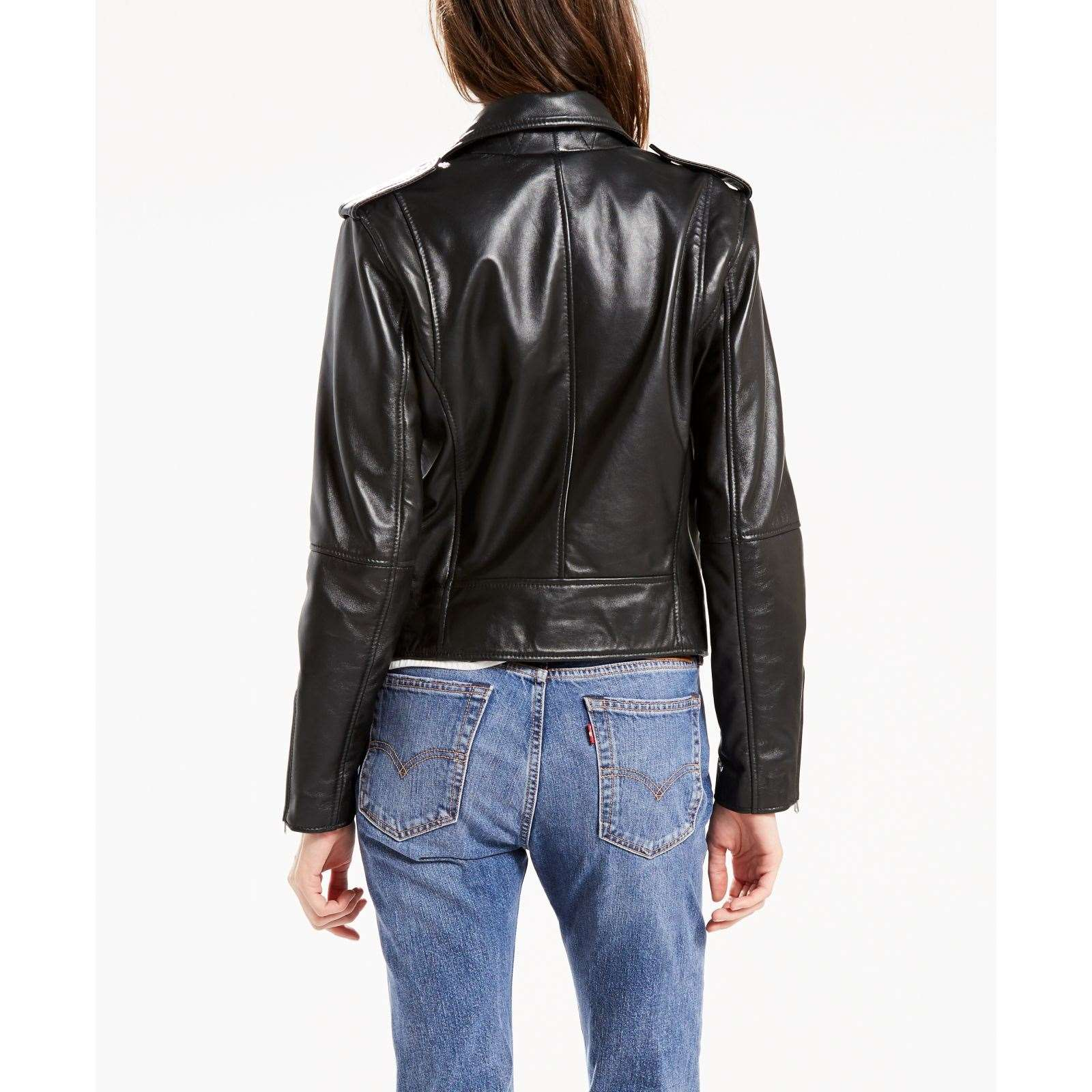pelle Giacca in moto Relaxed BrandAlley nero Levi's 0EqITxwO