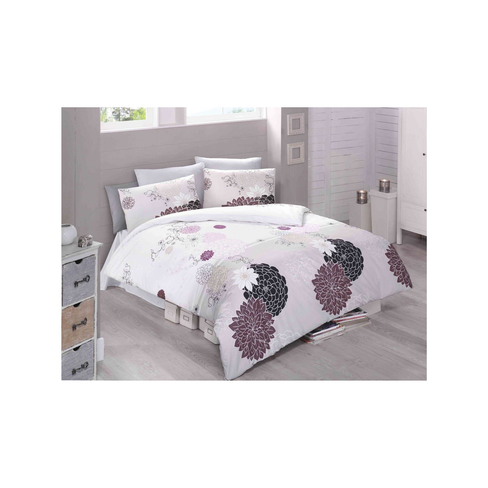 victoria home parure de lit rose clair brandalley. Black Bedroom Furniture Sets. Home Design Ideas