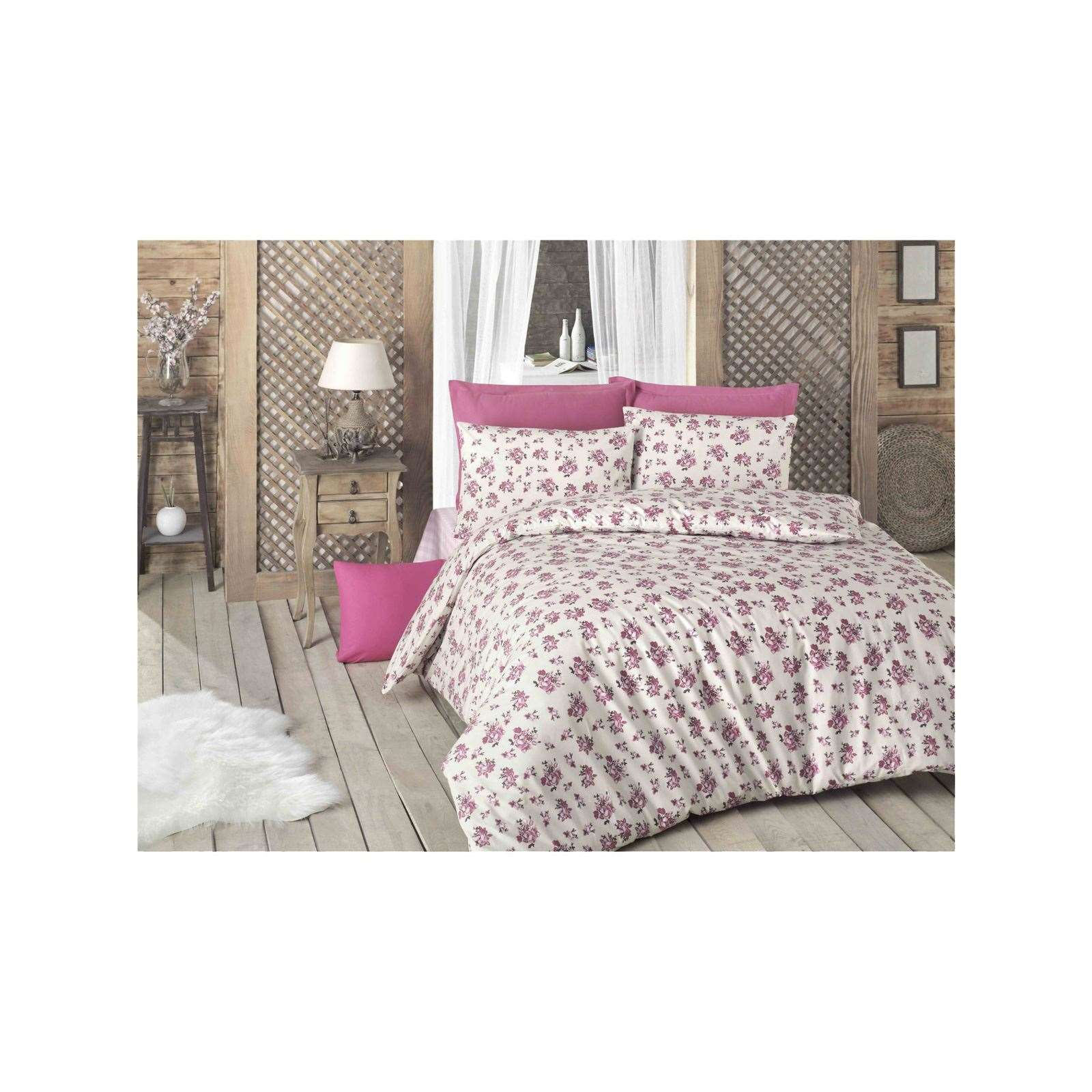 victoria home parure de lit rose brandalley. Black Bedroom Furniture Sets. Home Design Ideas