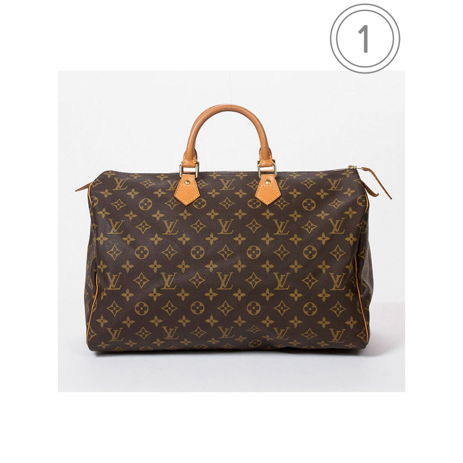 louis vuitton speedy 40 shopping bag braun brandalley. Black Bedroom Furniture Sets. Home Design Ideas