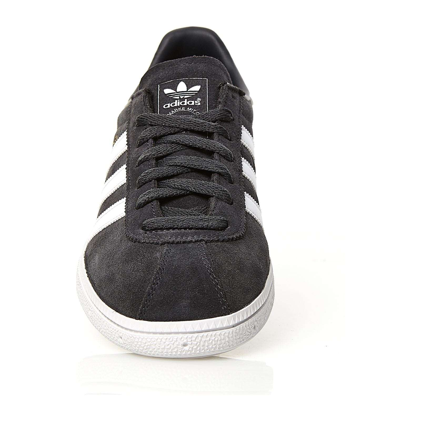 adidas Originals Originals adidas Munchen Baskets en cuir gris BrandAlley  1202a8 4add437381a0