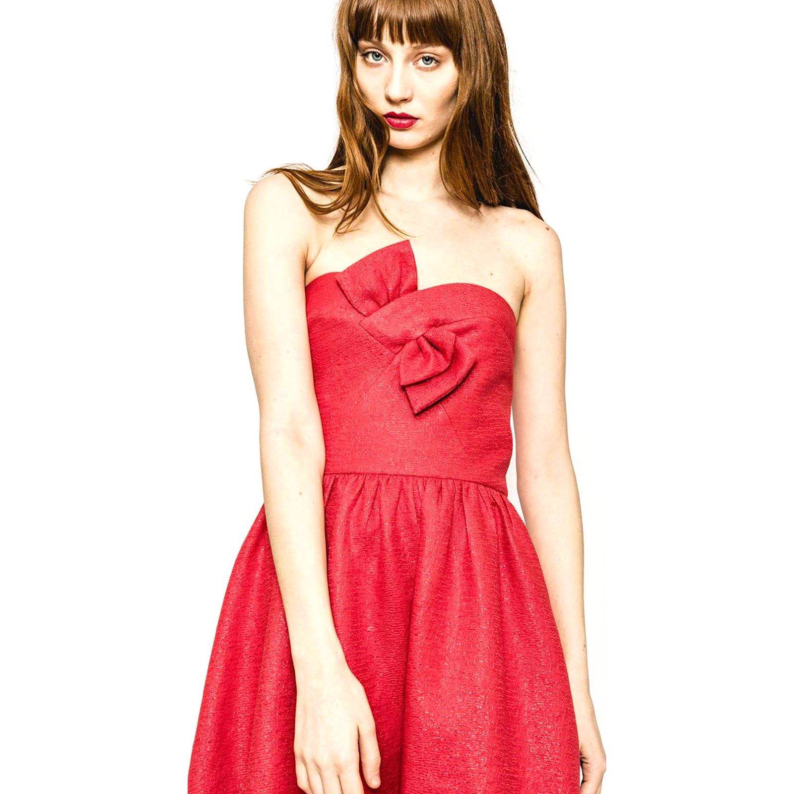 2458d5027278e Sinéquanone Olympe - Robe bustier - rouge