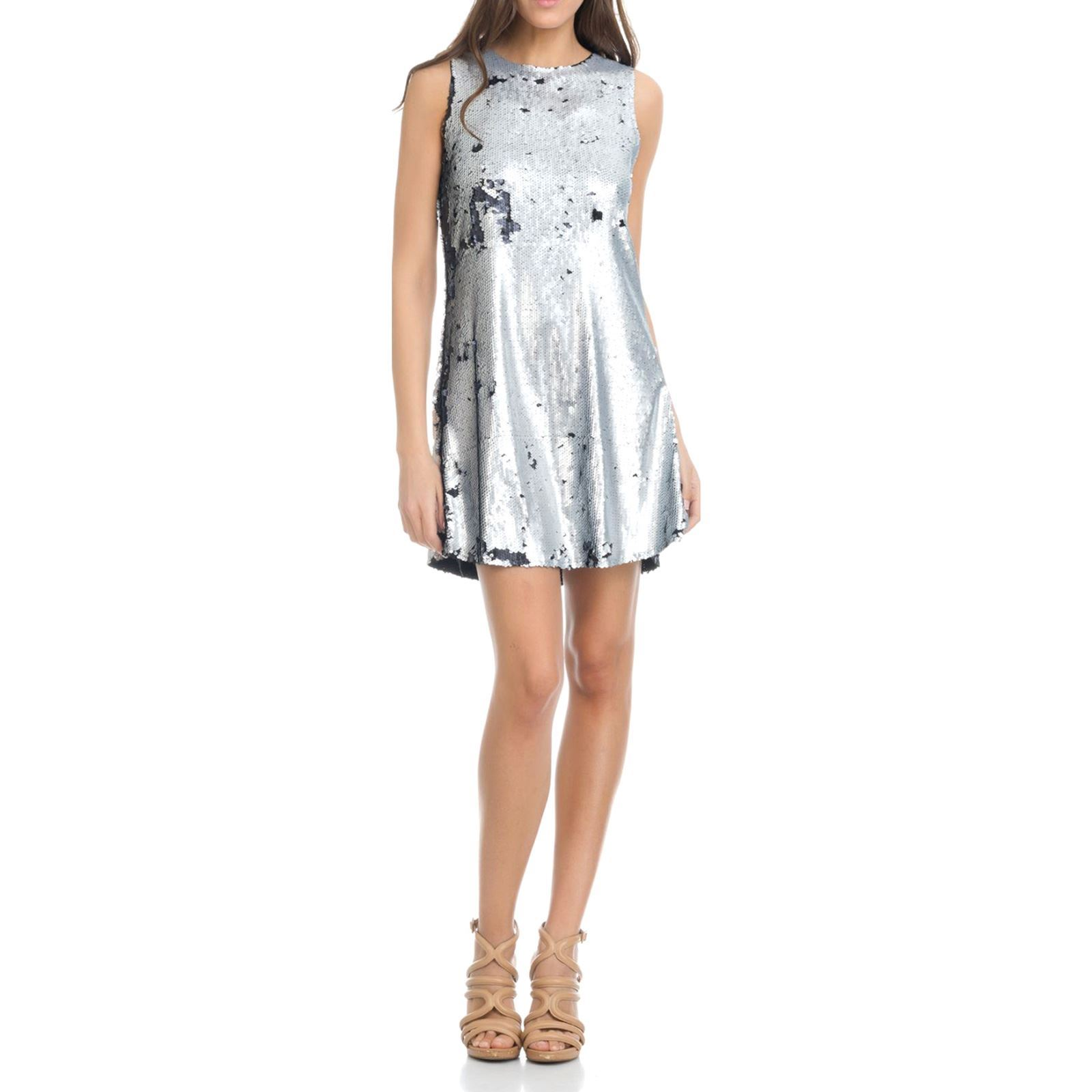 Chic By Tantra Robe droite - argent   BrandAlley 3450975ee1d
