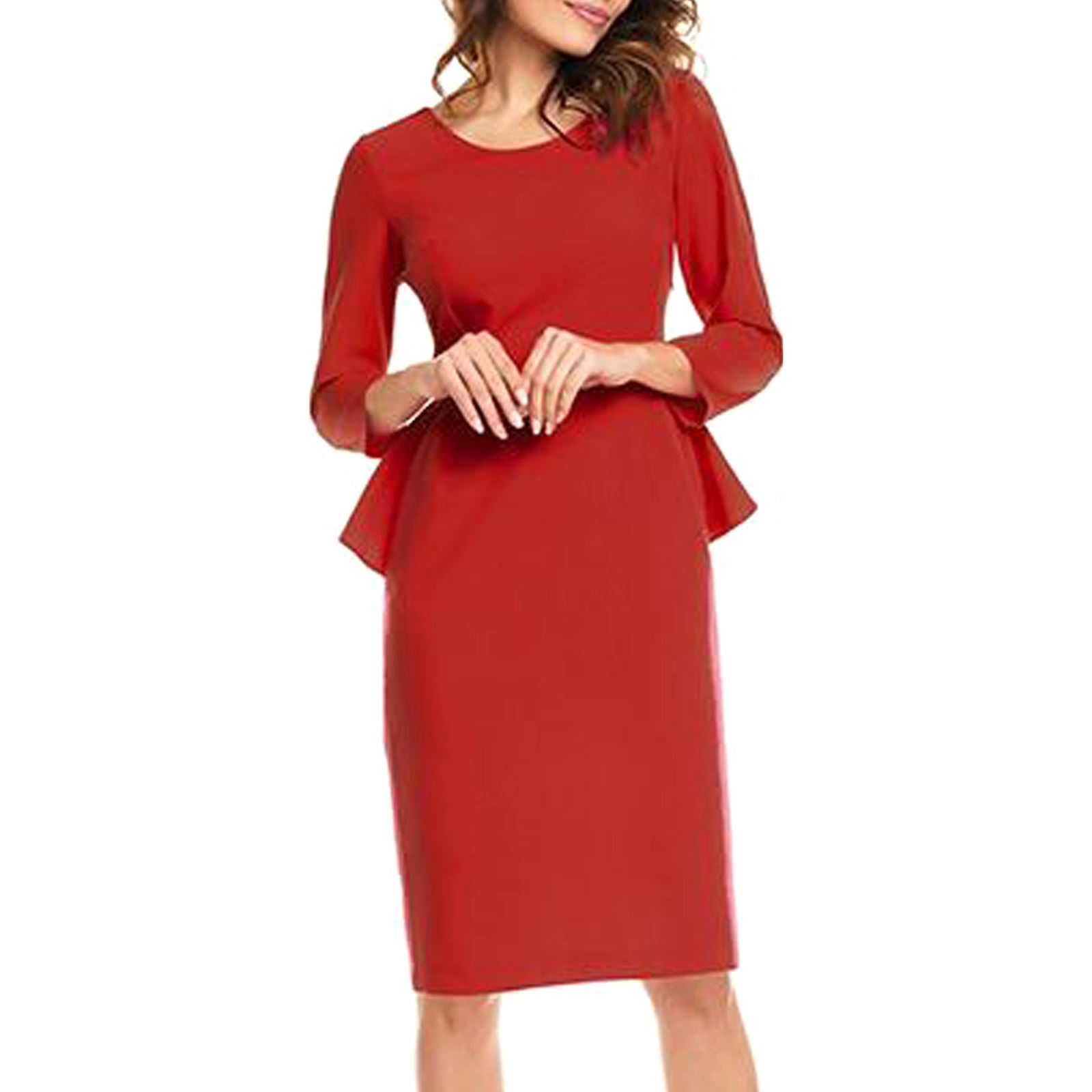 368f7bed5440a Awama Robe à basque - rouge   BrandAlley