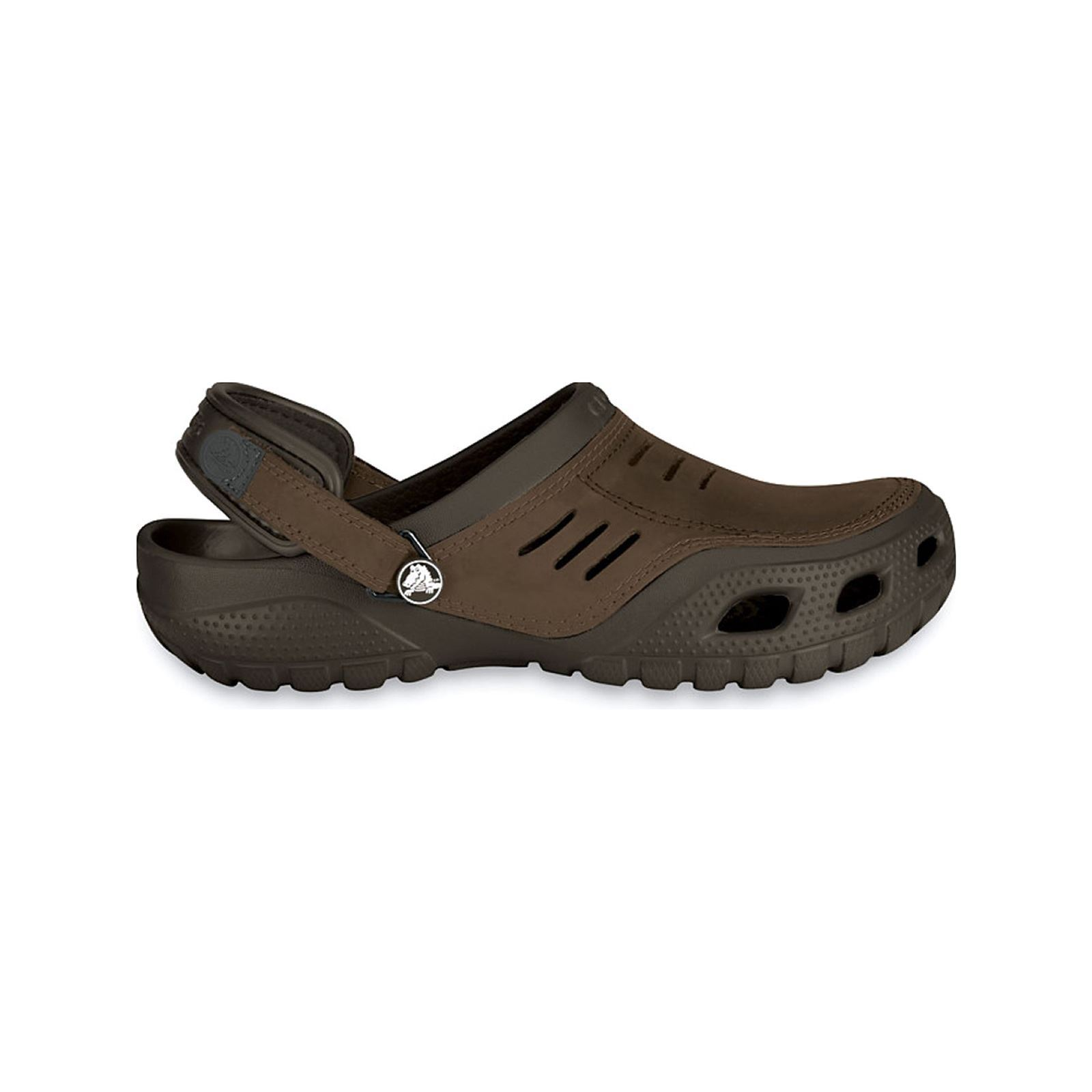 Crocs Yukon Sport - Sandales - marron foncé  Application siglée sur bride