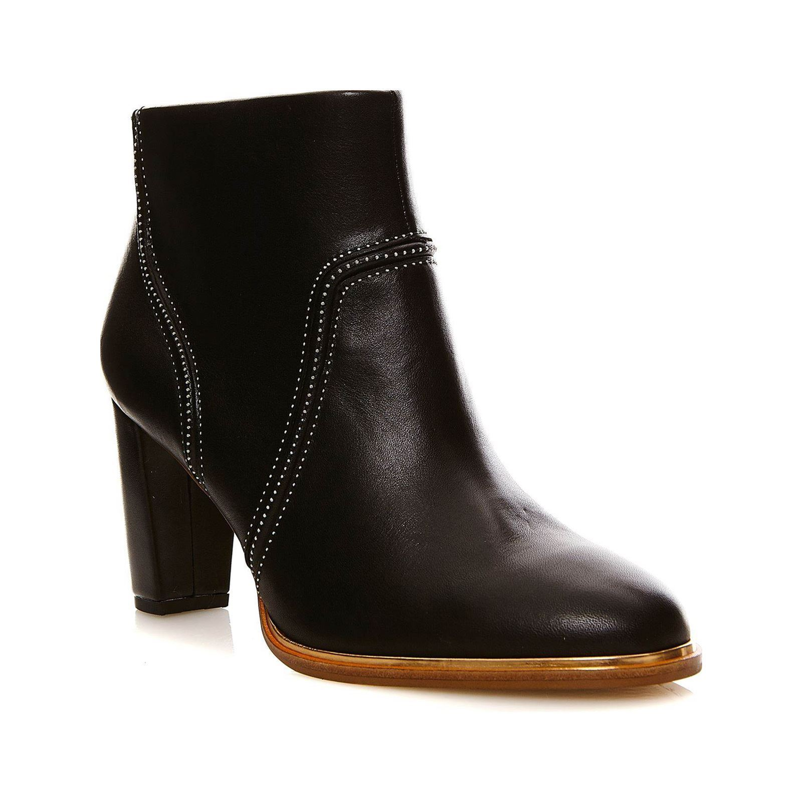 Clarks Ellis Betty Black leather - Bottines en cuir - noir
