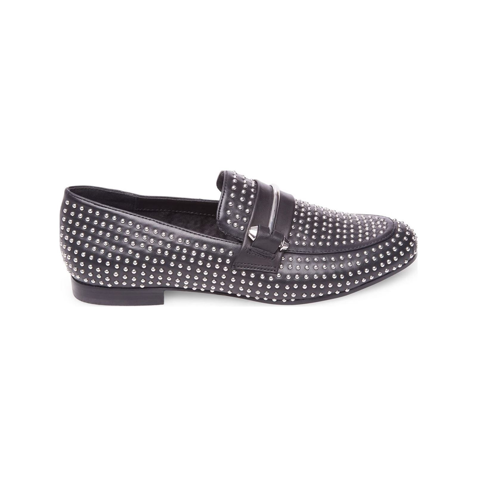 Steve Madden Kast - Mocassins en cuir - noir  Clous all over - application métallique sur le dessus