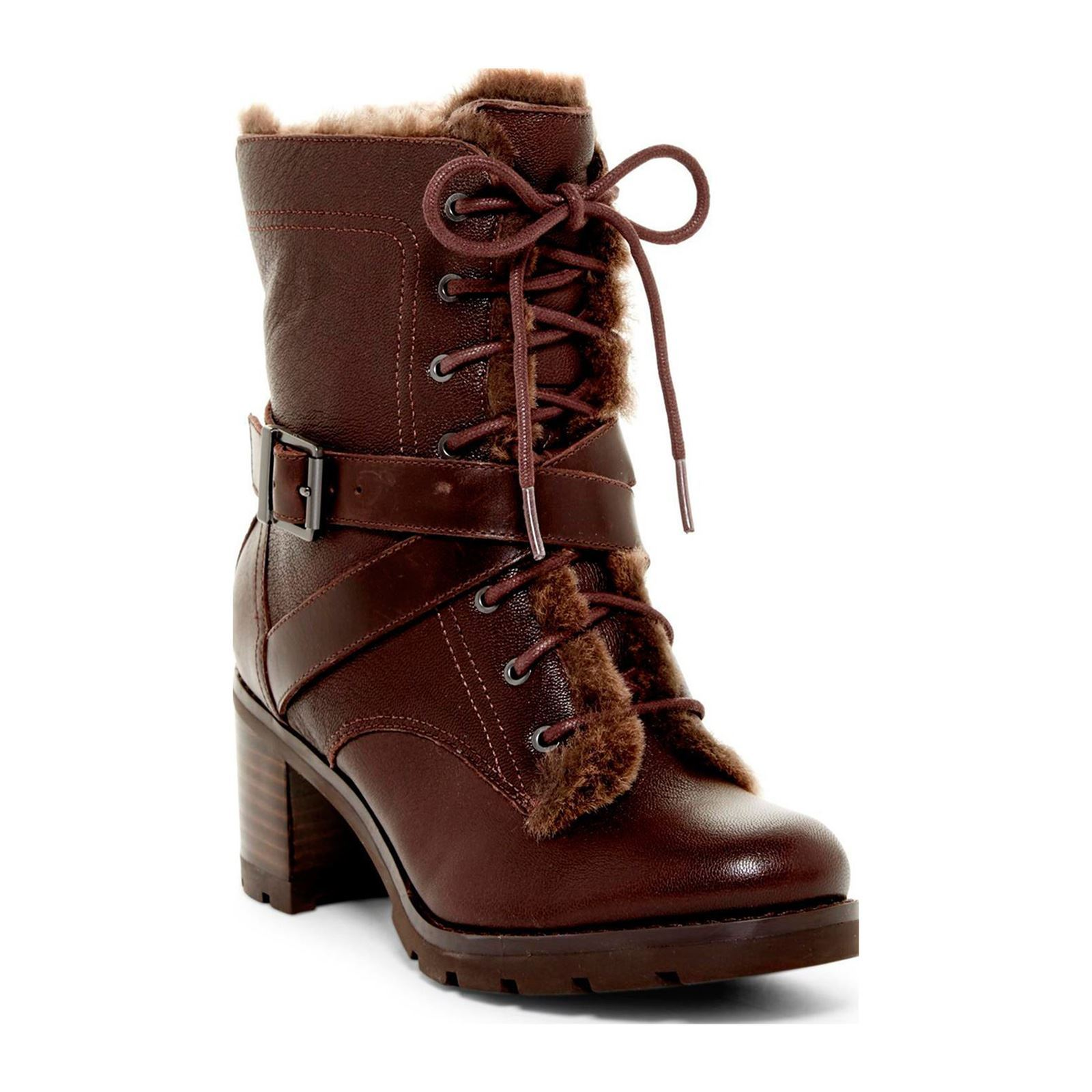 Ugg ingrid bottines fourr es en cuir marron brandalley - Code promo vente privee frais de port gratuit ...