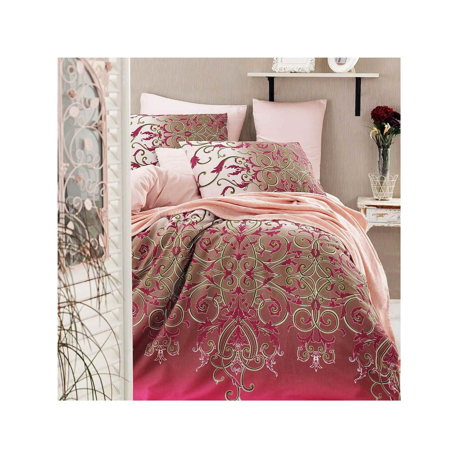 en vogue vitaly parure de lit rose brandalley. Black Bedroom Furniture Sets. Home Design Ideas
