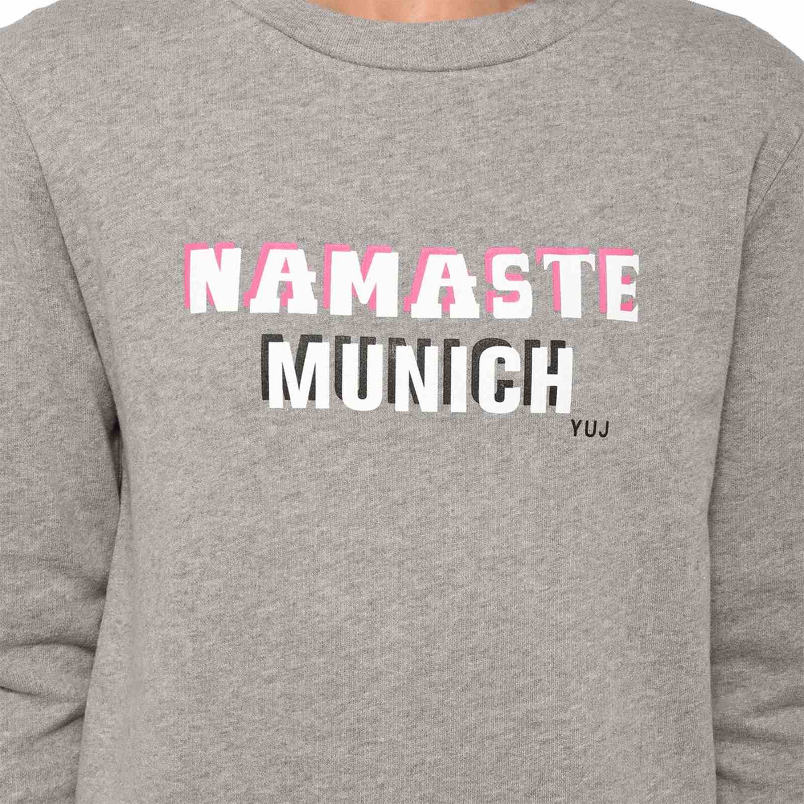 shirt Sweat Munich Yuj Gris Yoga Namaste De ECqvw5txv