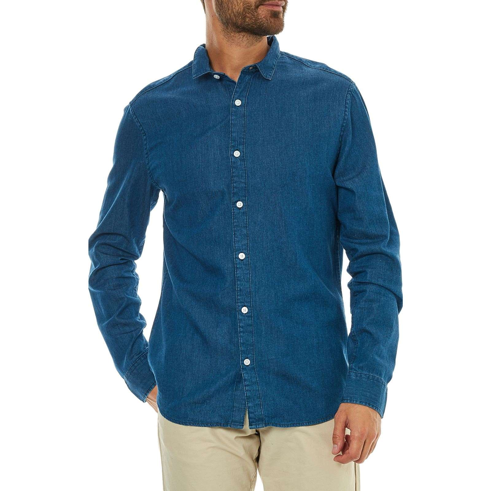 new product 0a7d0 5abe7 Only & sons Nevin - Camicia a maniche lunghe - blu jeans ...