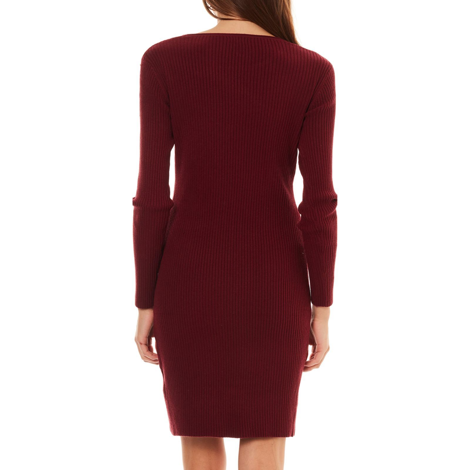 Robe pull maille bordeaux