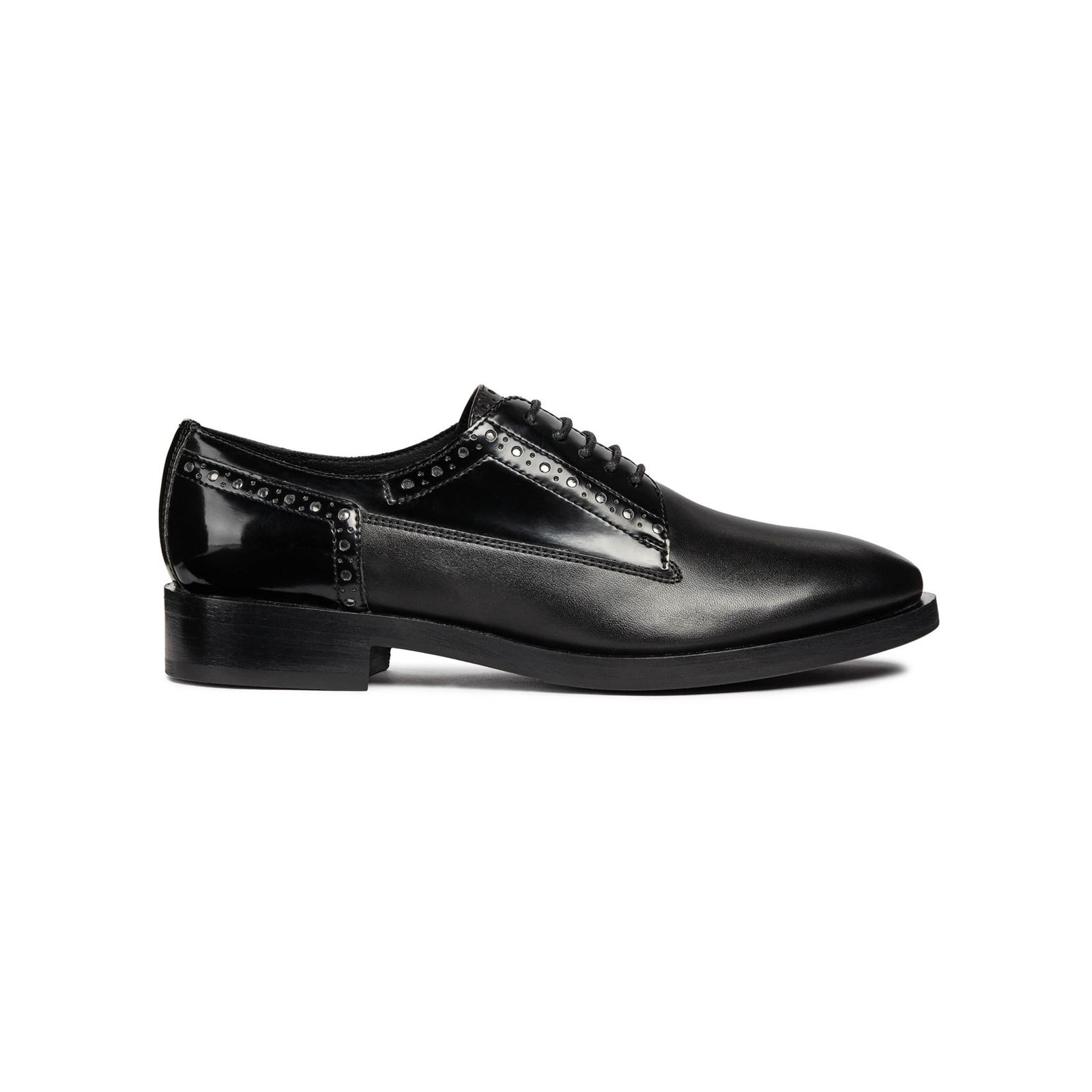 Brandalley B Noir Brague Donna Derbies Geox waX1qPxa