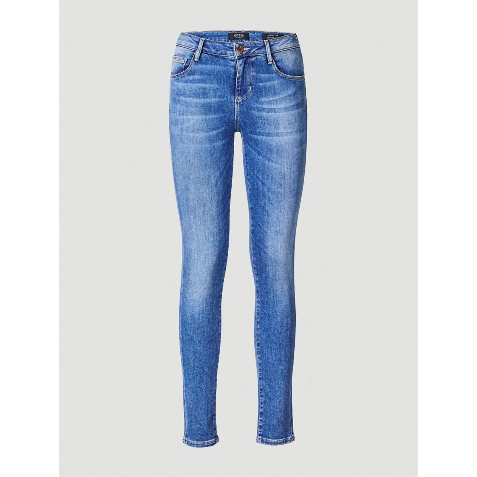 4cbbdc0dc305 Guess Jean skinny taille haute - bleu