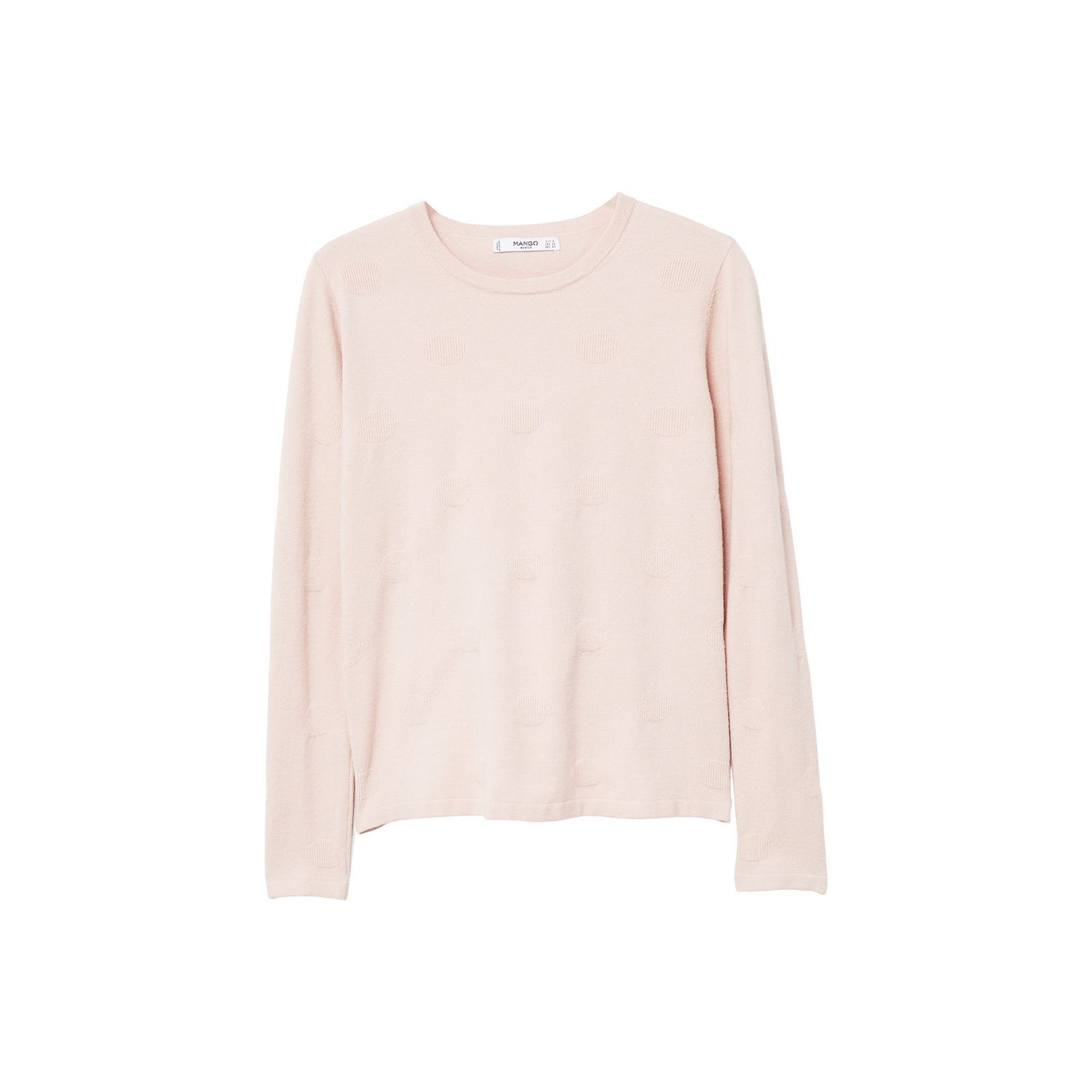 488a23bc5aeb Mango Pull-over à pois relief - rose