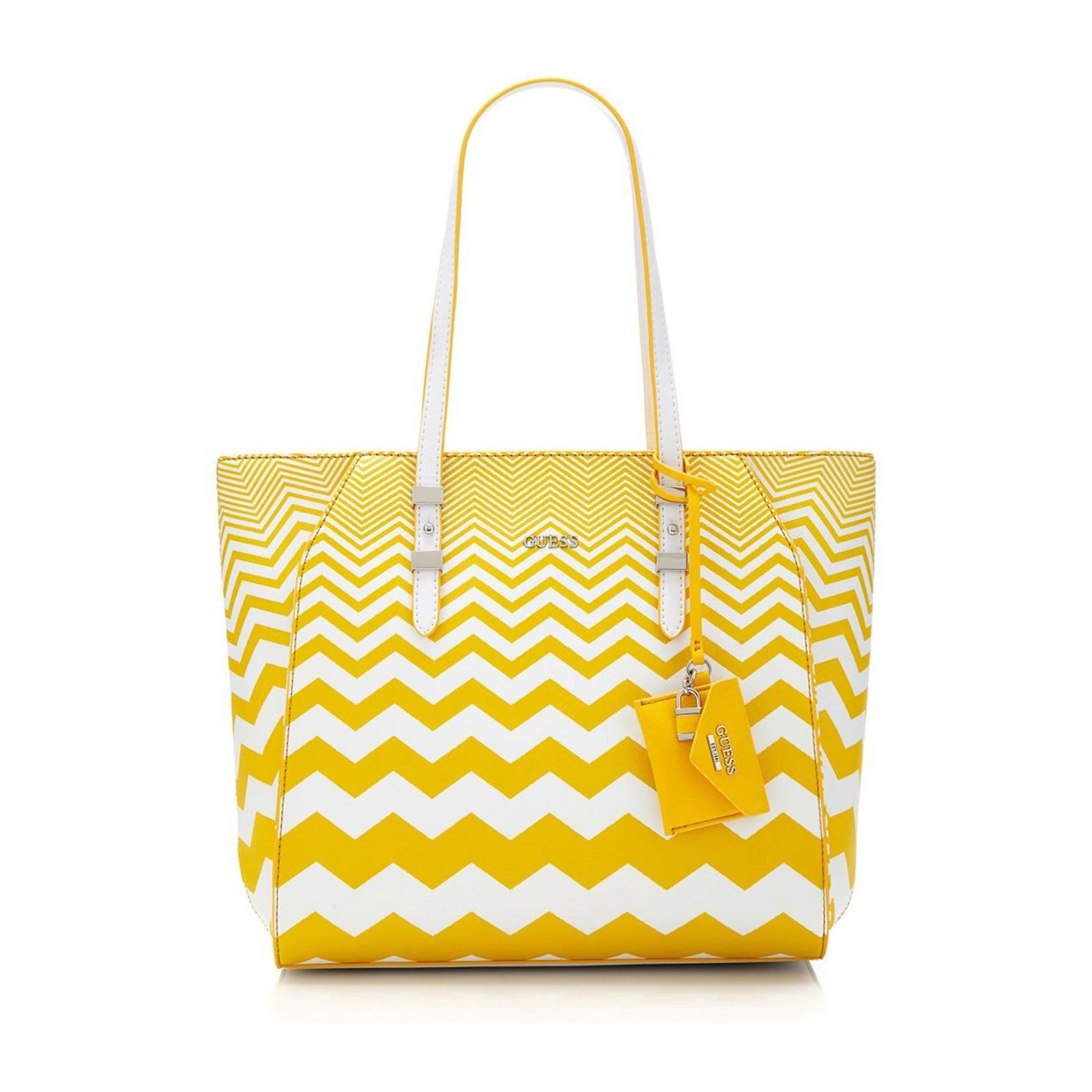 be3adcc4cf0b5 Guess Gia - Sac cabas - jaune   BrandAlley
