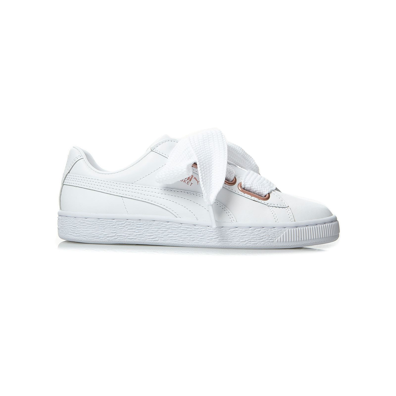 5b3604e78e8 Puma Suede heart leather - Leren gympen - wit | BrandAlley
