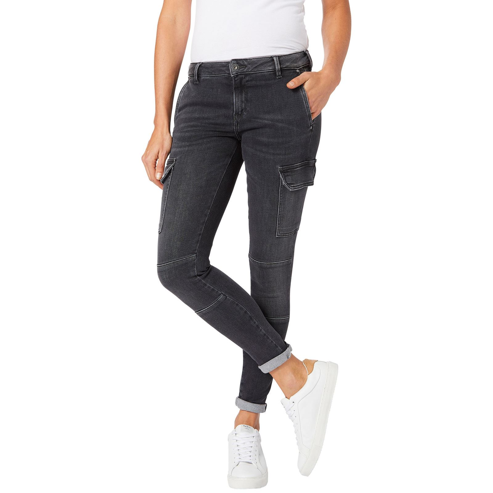 78c5afcfcbd Pepe Jeans London Survivor - Jean slim - noir