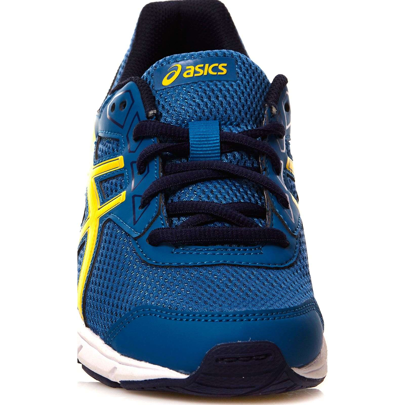 asics chaussures de running bleu et jaune brandalley. Black Bedroom Furniture Sets. Home Design Ideas