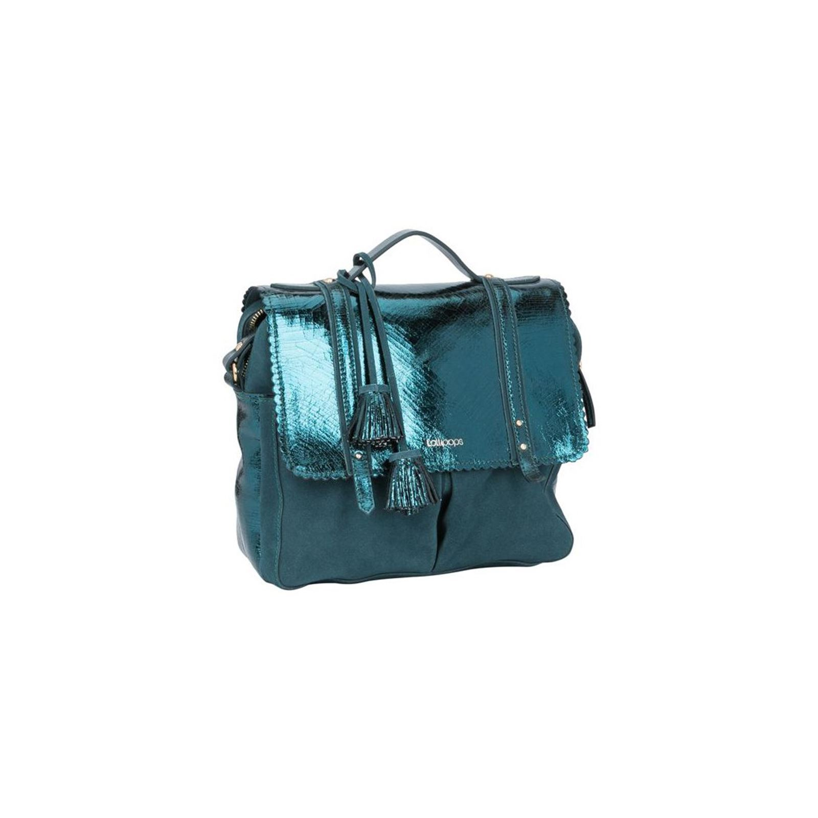 b09b87e6df Lollipops Claudine - Sac cartable en cuir - vert | BrandAlley