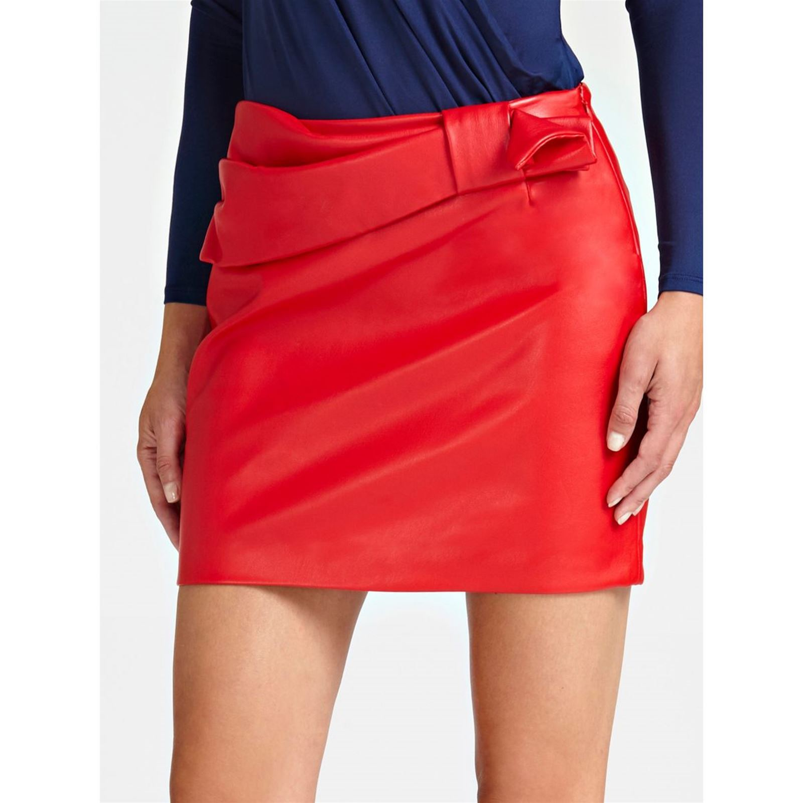 Enduit Brandalley Jupe Rouge Guess Effet 6xwgaE7