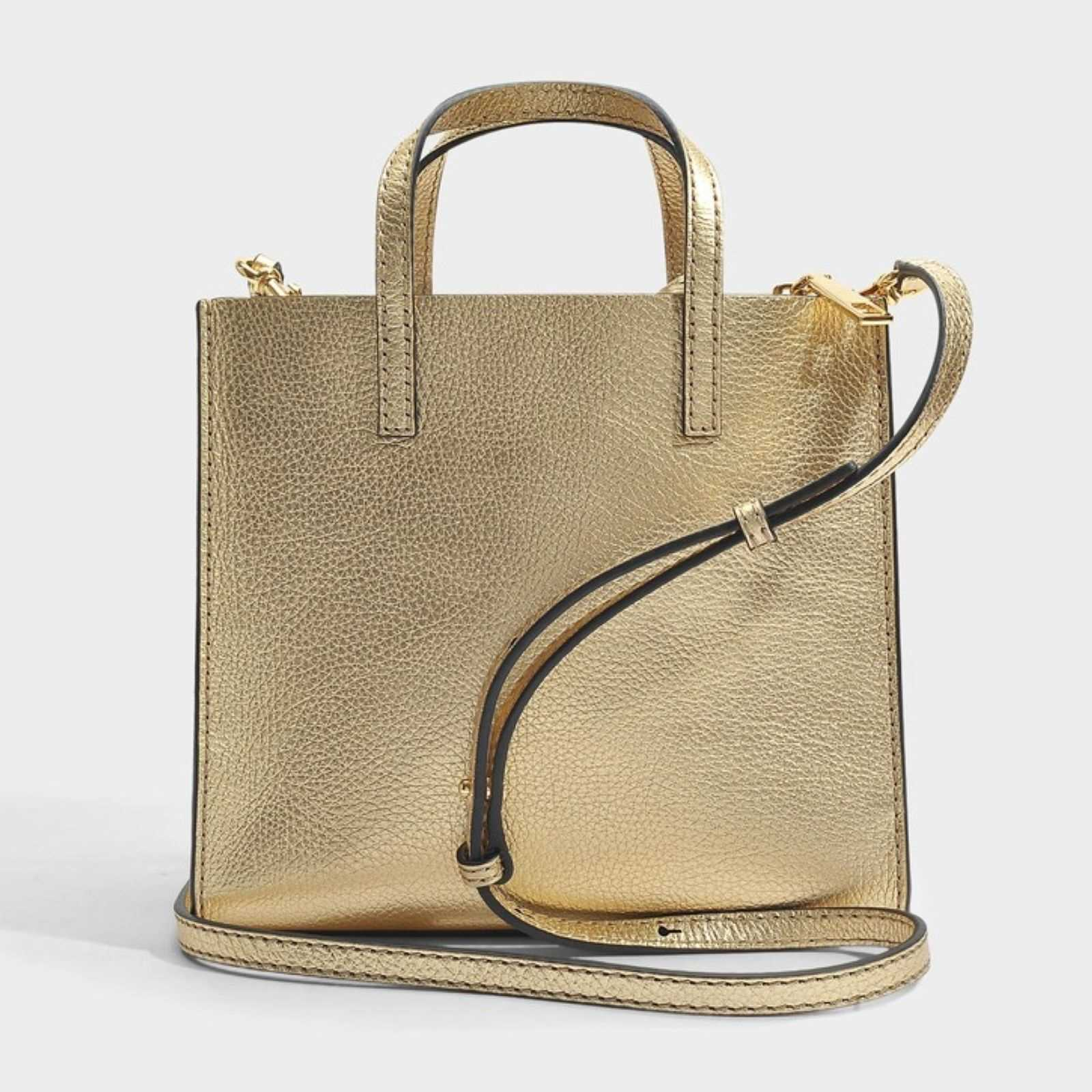 Marc Jacobs The mini grind - Sac à main en cuir - doré   BrandAlley 7bb753b74b22