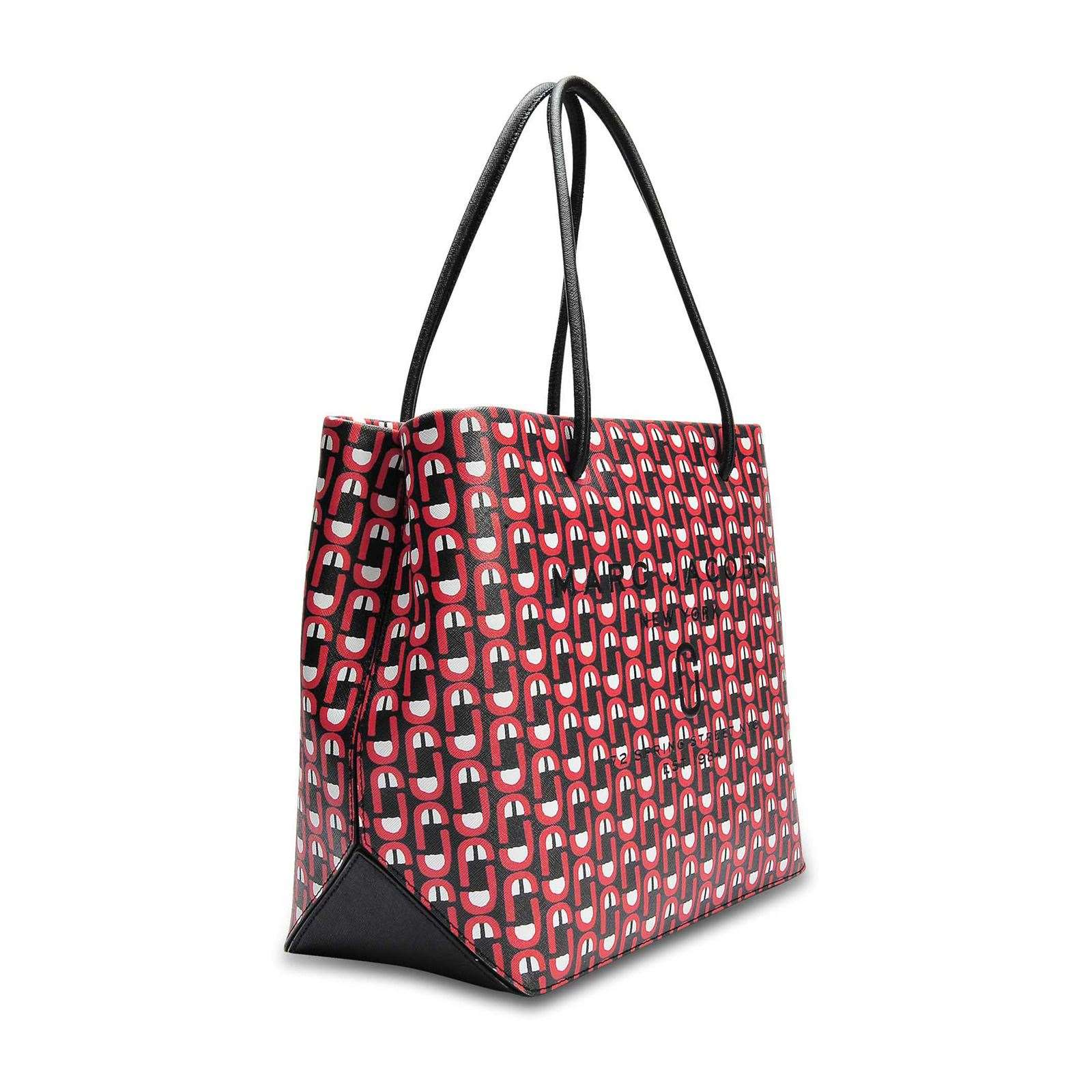 Marc Jacobs Ew Logo Shopper - Sac shopping en cuir - rouge   BrandAlley f24fd57bac6b