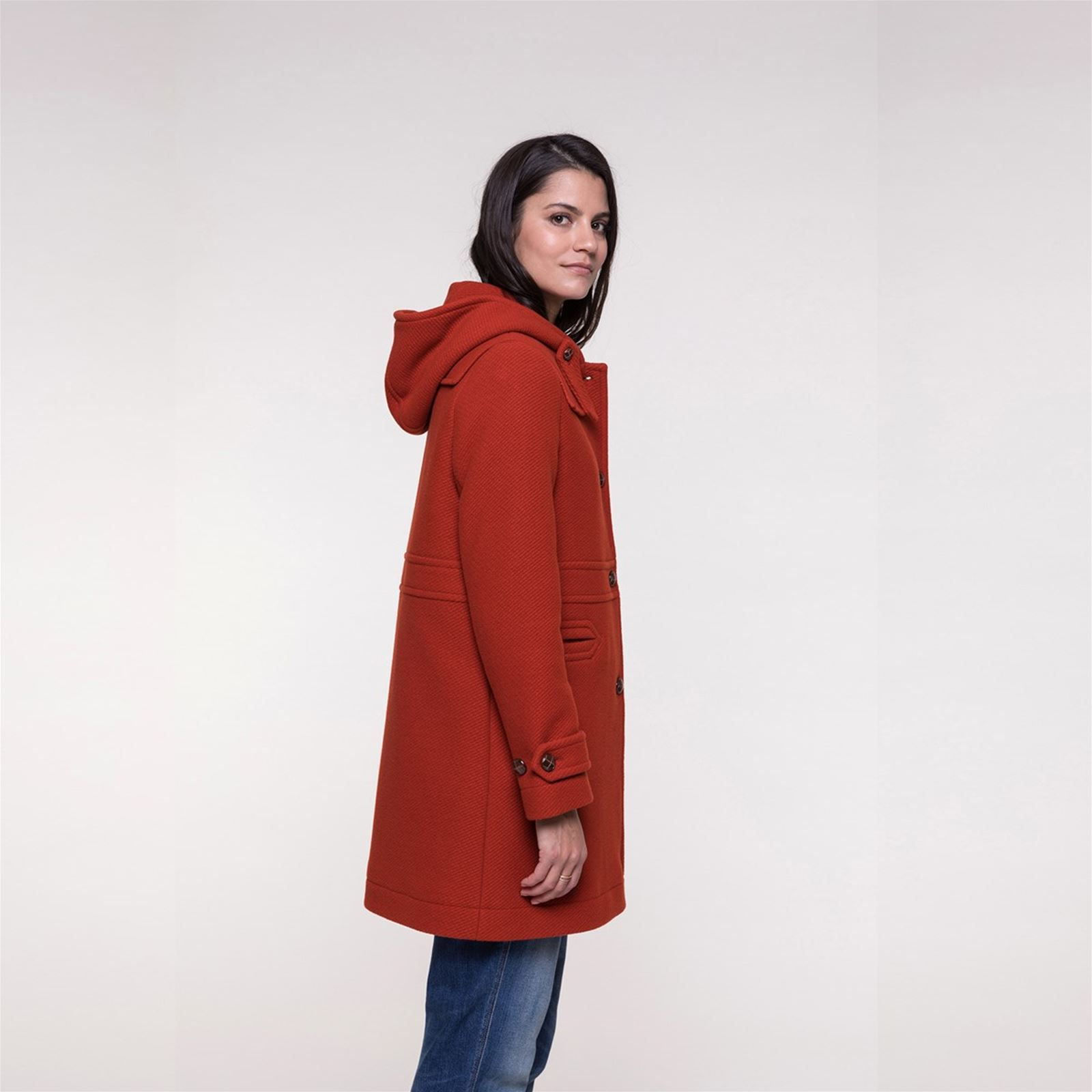 Trench and coat Manteau 75% laine reliefé - rouge   BrandAlley d50cafbe45ce