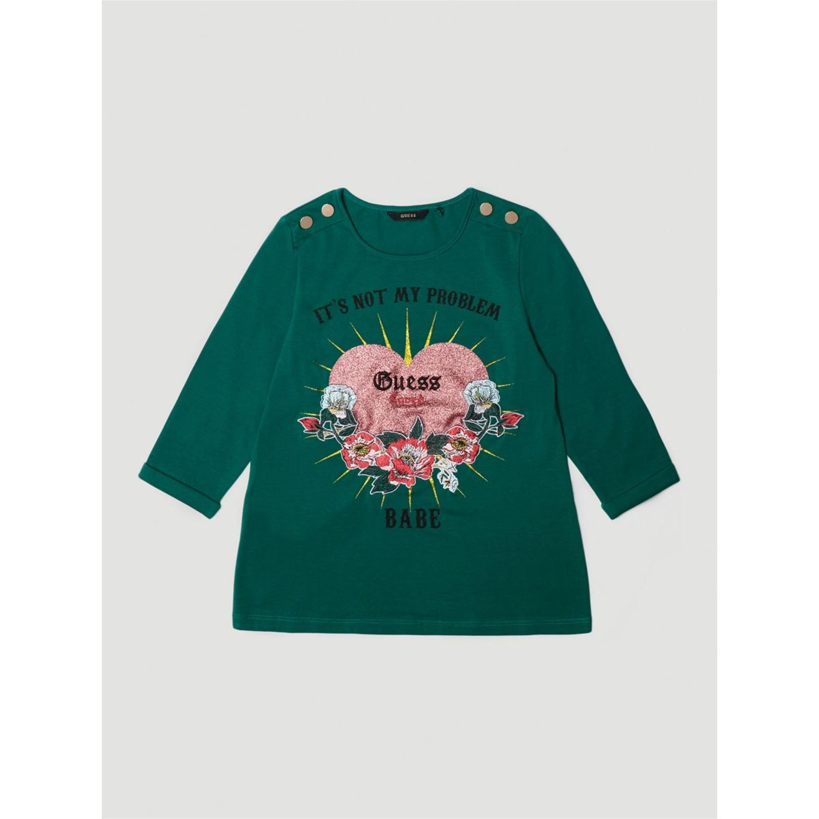 Guess Kids T-shirt imprimé frontal - vert   BrandAlley 3353c0295268