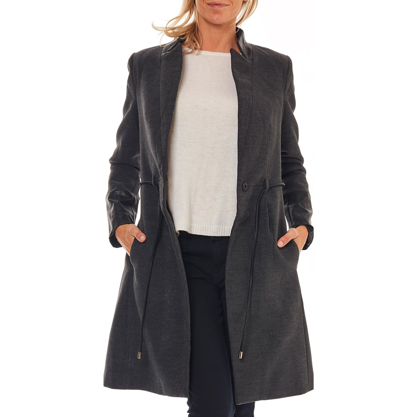 new style f5253 83d50 Molly Bracken Cappotto - grigio scuro | BrandAlley