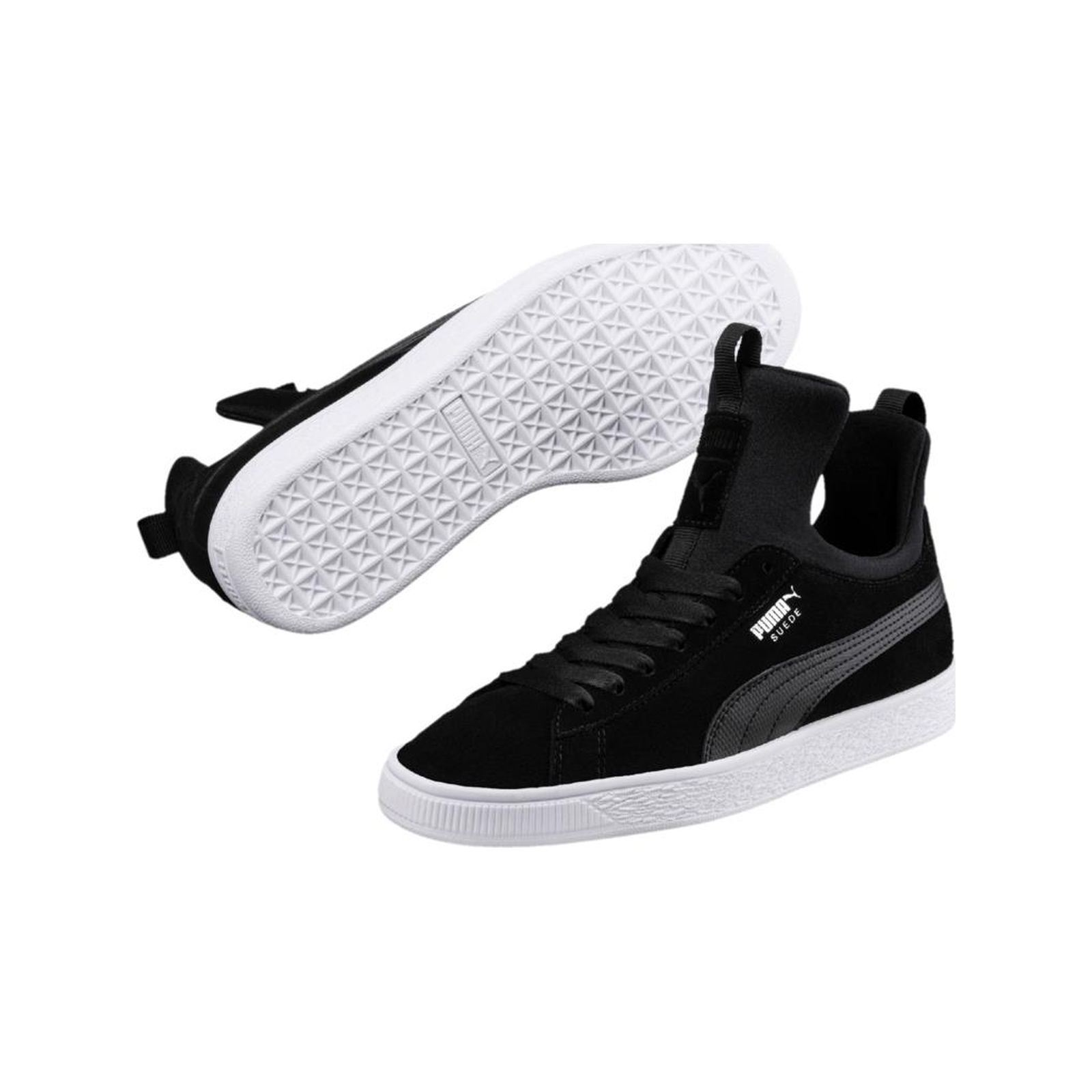 04c90c624b7 Puma Suede Fierce - Baskets montantesen cuir - noir