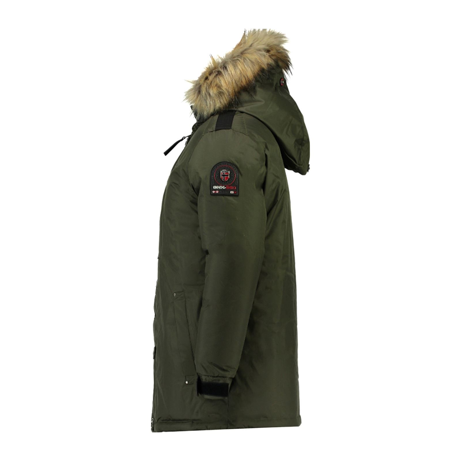 GEOGRAPHICAL NORWAY Agada 068 - Parka avec capuche imitation fourrure - kaki 28be0eeea8e8