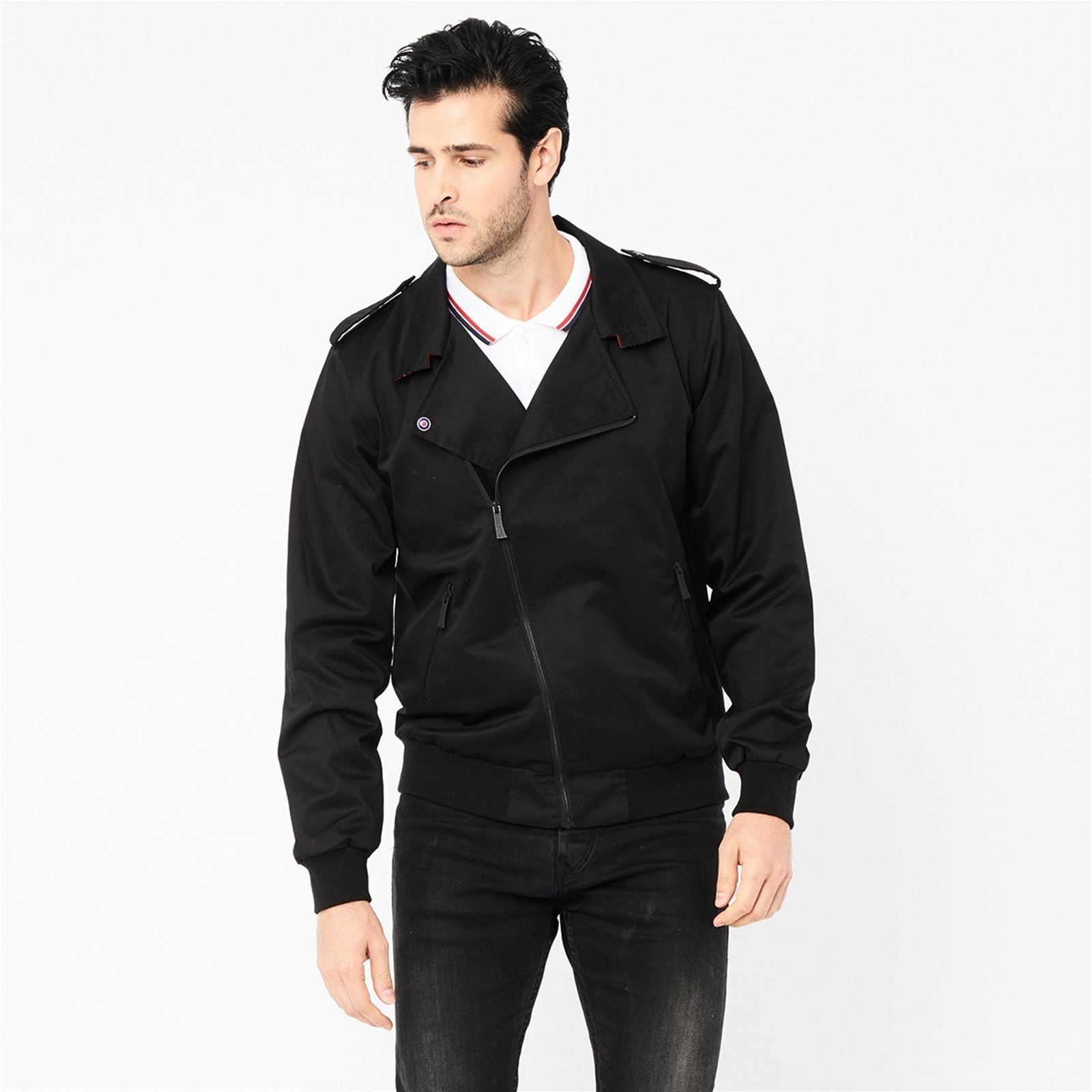Noir Elvis Harrington Blouson Harrington Elvis wSBI7B