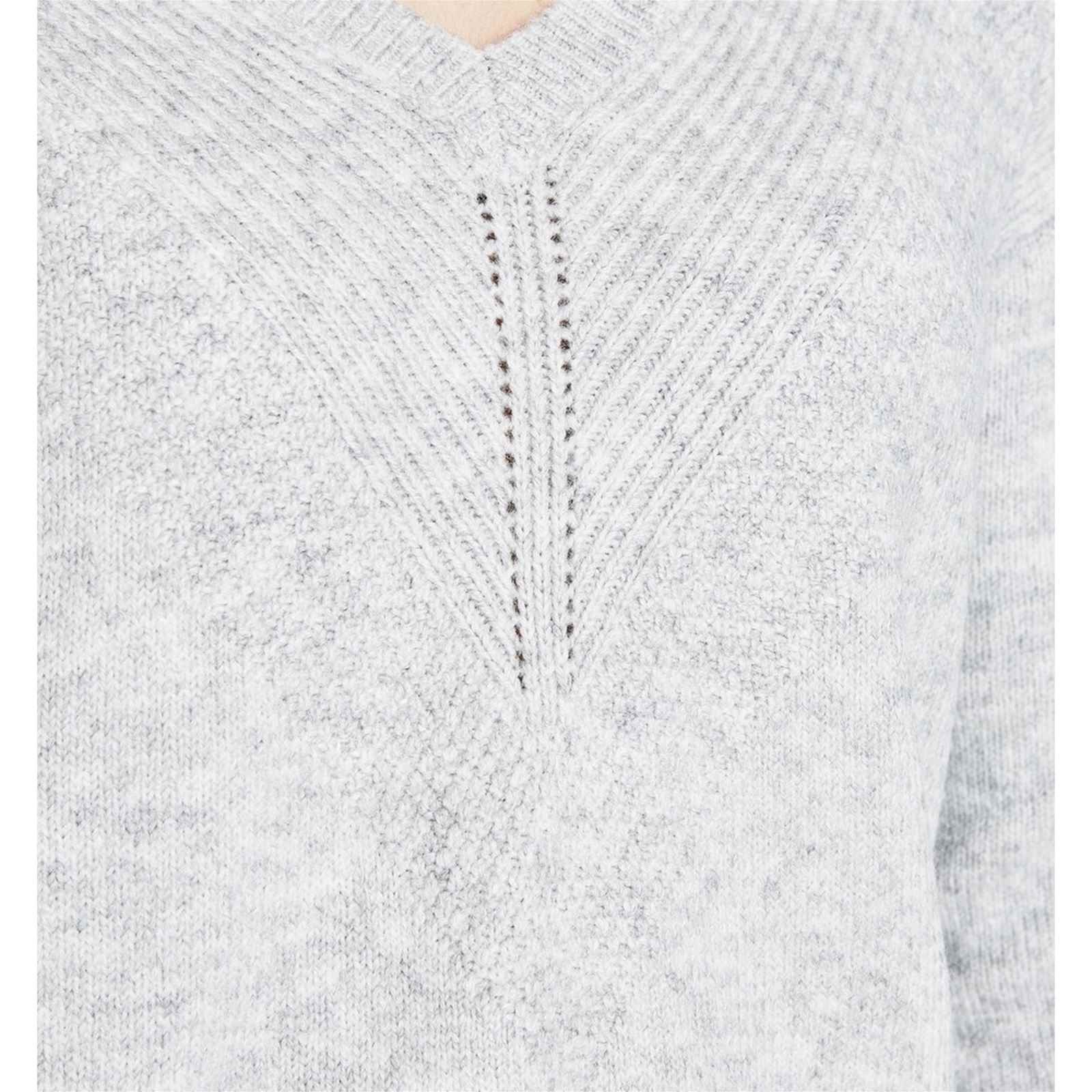 571a077fe57 Promod Robe-pull col V - gris clair