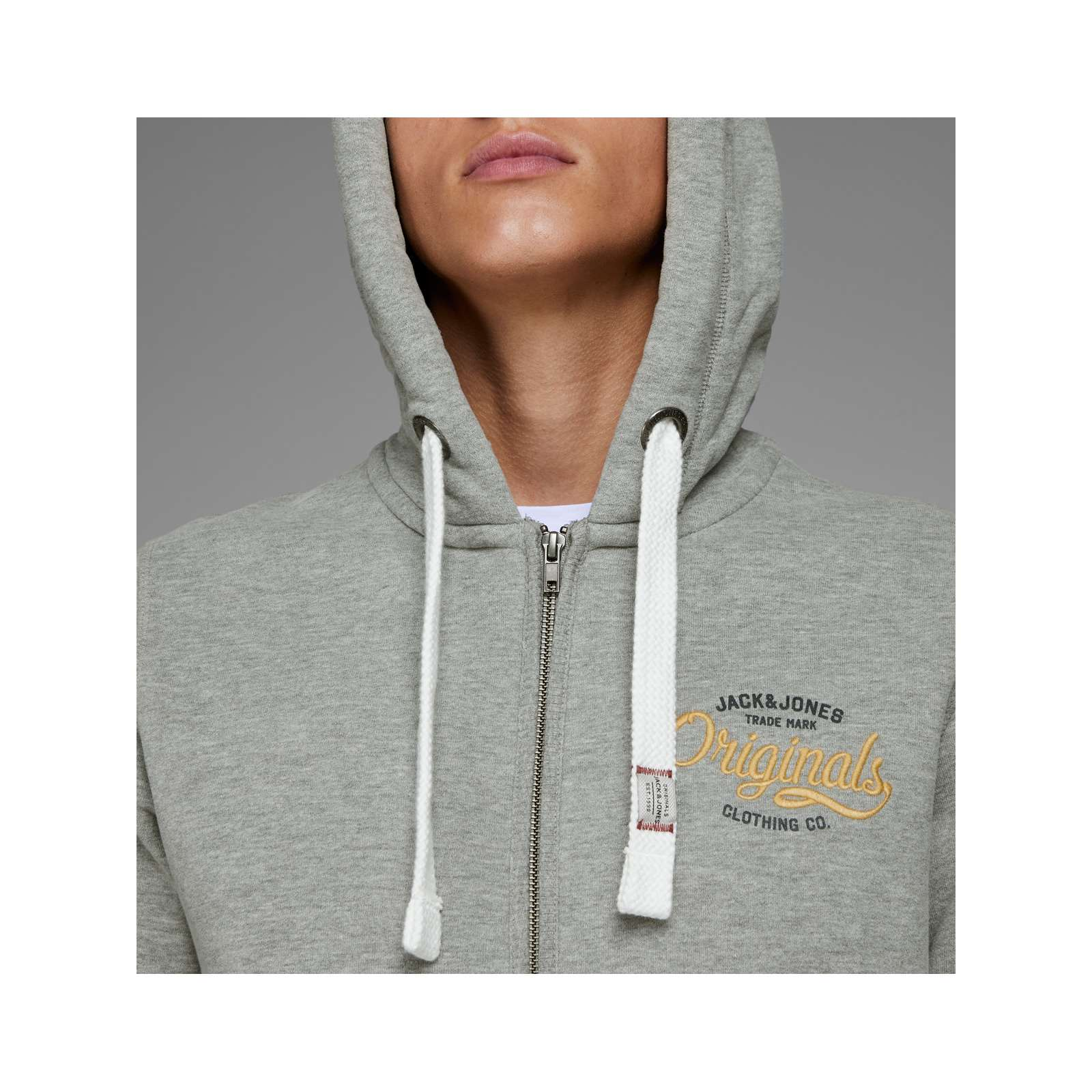Sweat Gris Jack Jones Brandalley amp; Jorfara Capuche À ff6taq