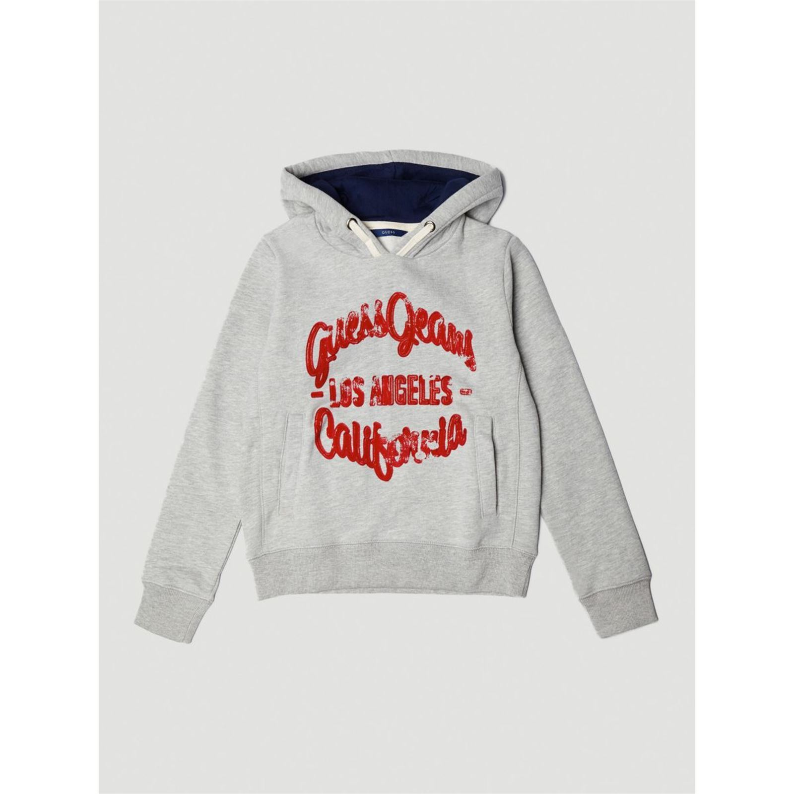 Guess Kids Sweat à capuche avec logo frontal - gris   BrandAlley a0eca4658fa2