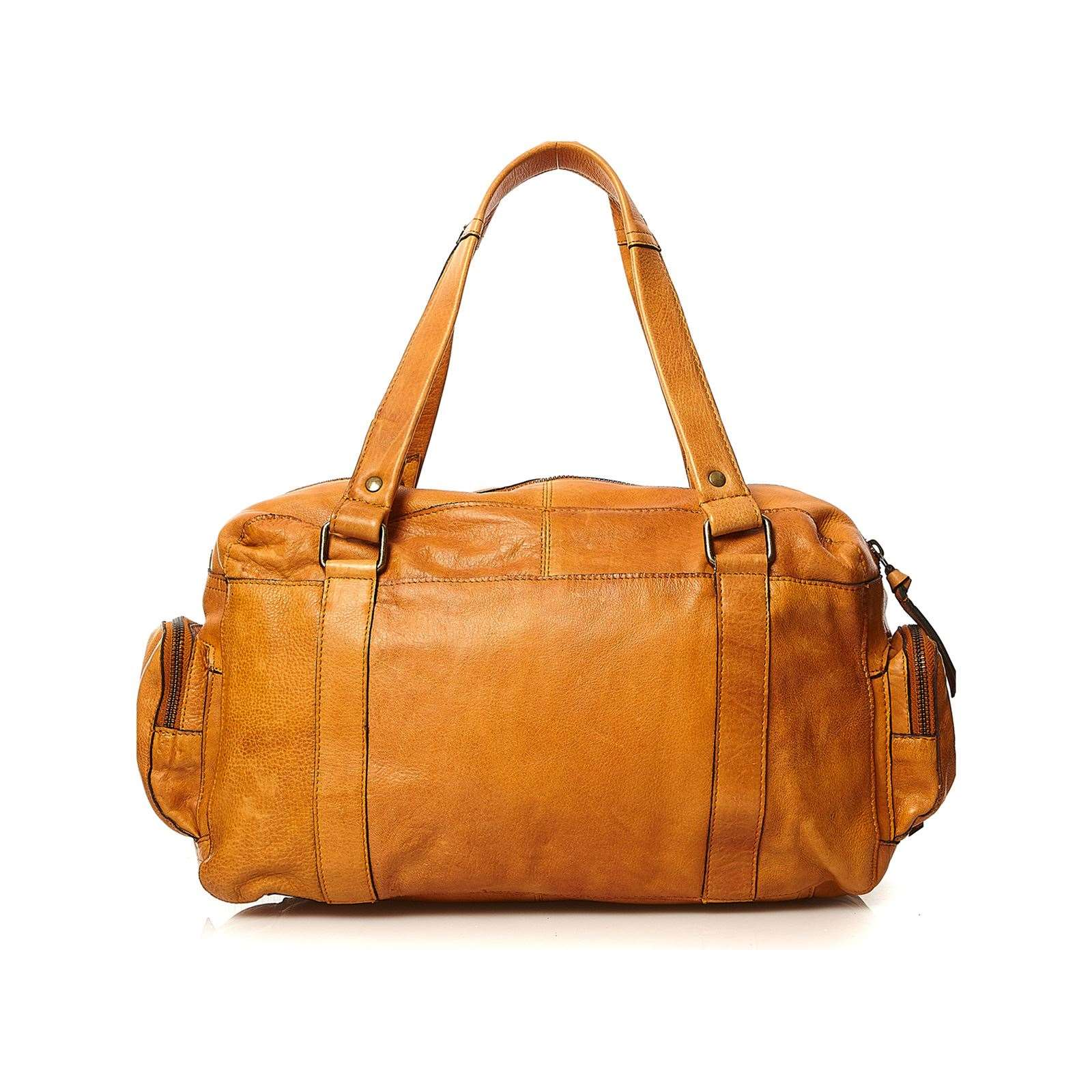 Pieces Totally - Sac à main en cuir - cognac   BrandAlley 971711ee47b