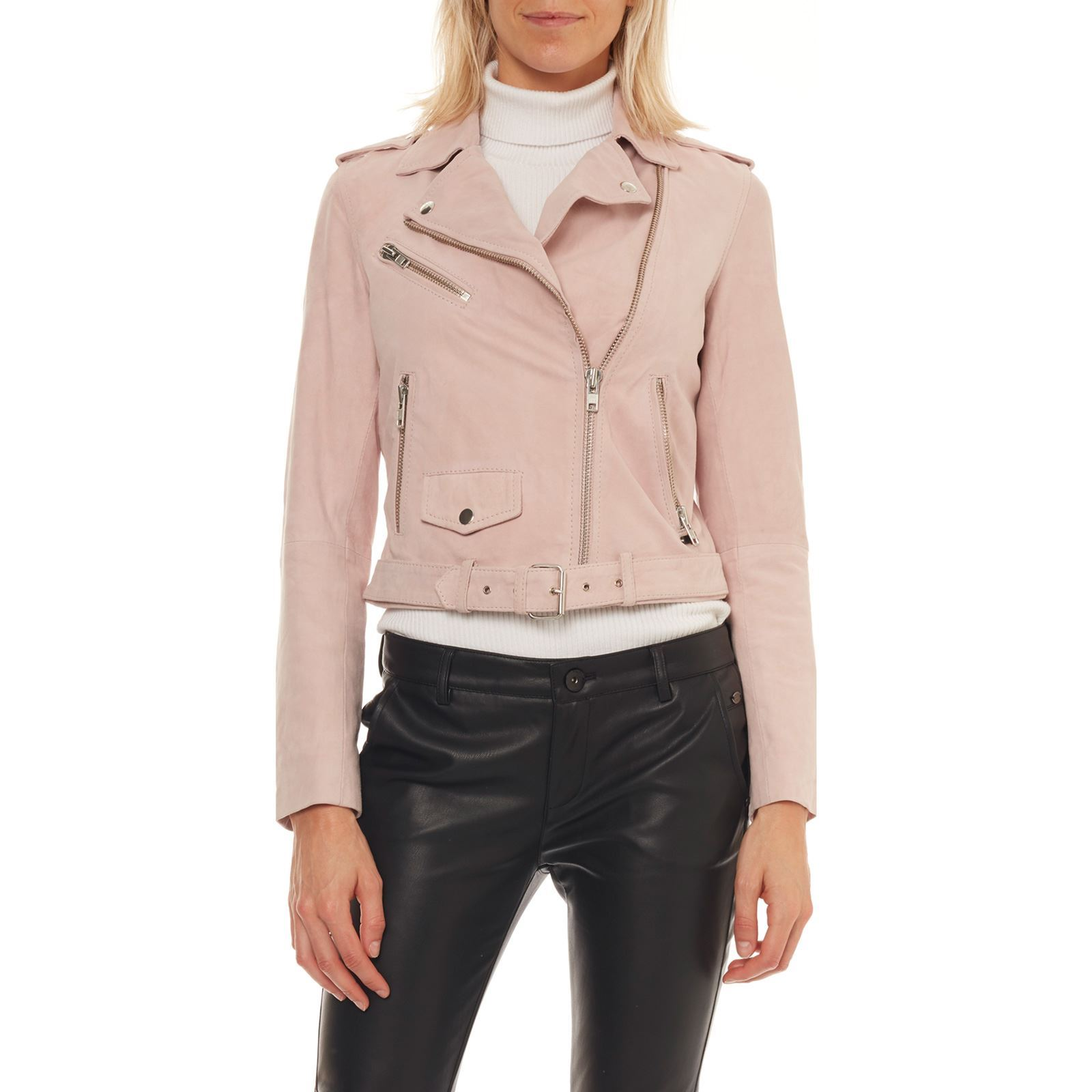 lowest price ded8c 54162 On you Giacca in pelle - rosa chiaro | BrandAlley