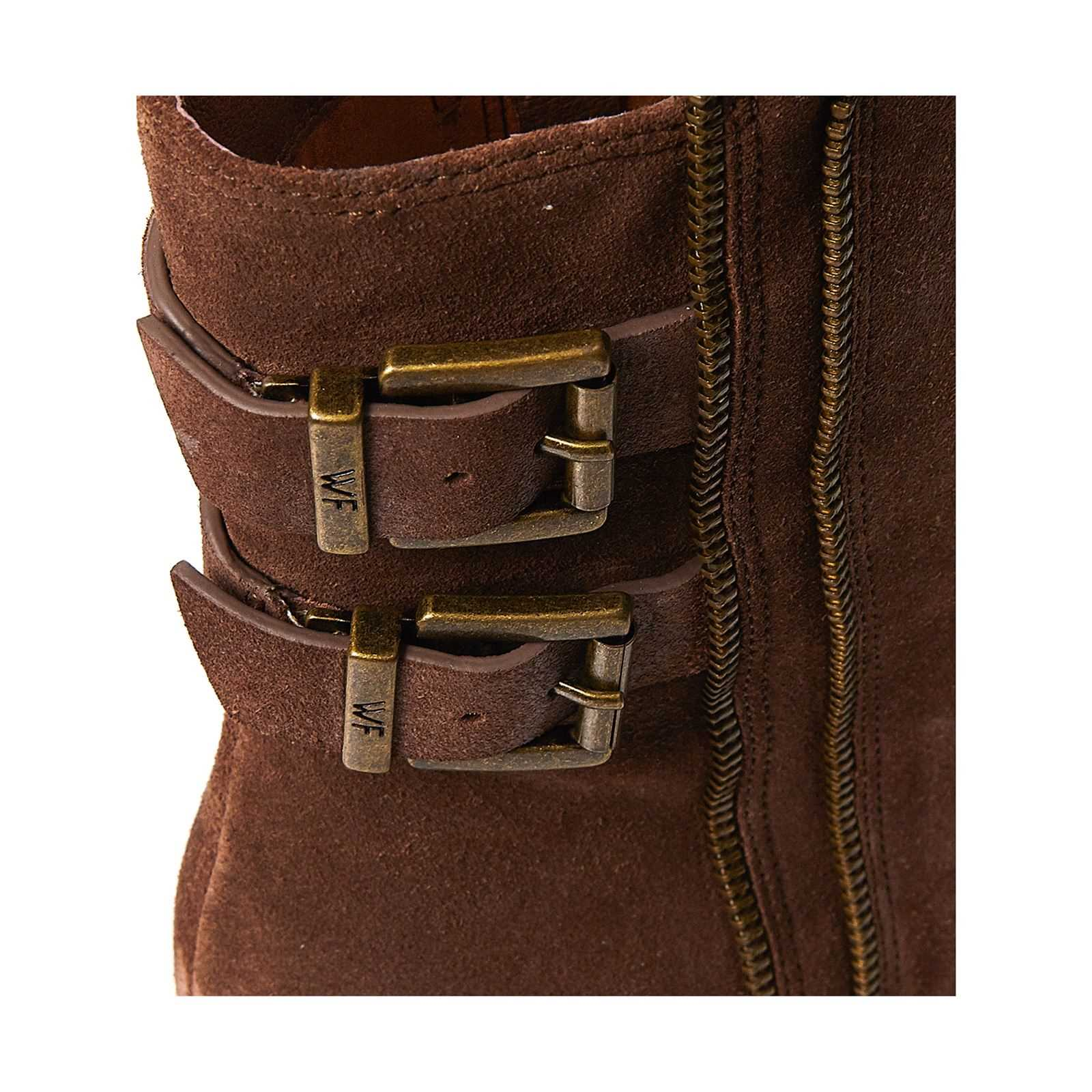 Brandalley Taupe En Cuir For Boots What Suédé Yq167nw 799bae4effc