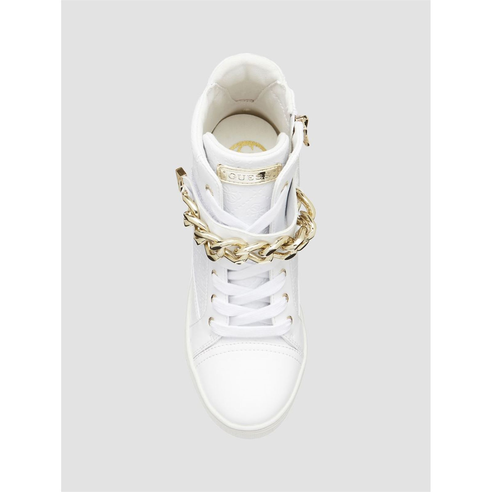 Compensées Logo Baskets Brandalley Guess Montantes Flipper Blanc zxpO0tO