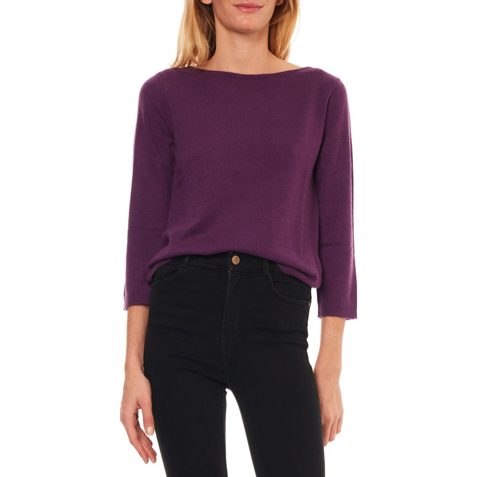 36d9f1efd3a Caroll Pull 100% cachemire - violet