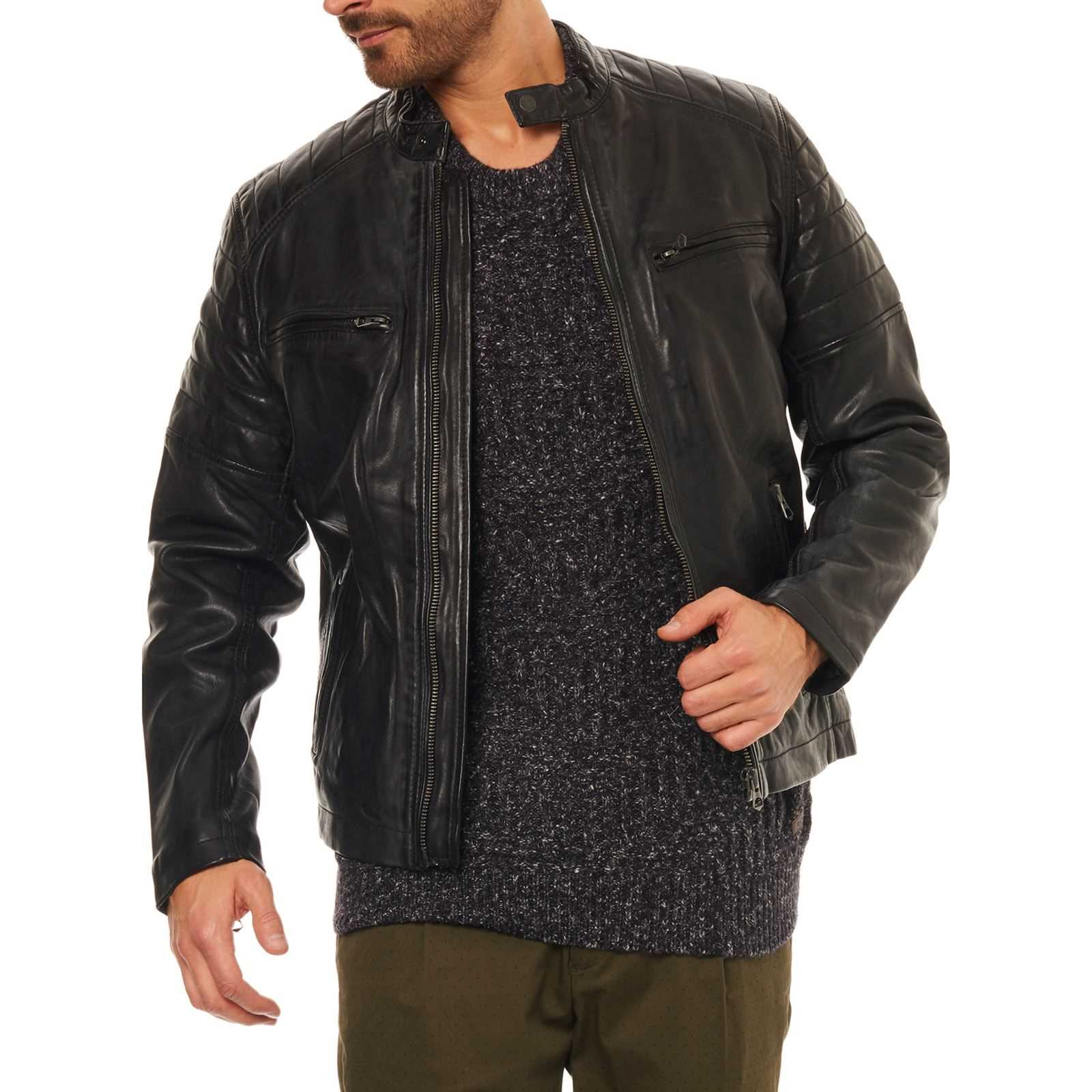Pepe Jeans London Keith - Veste en cuir - noir   BrandAlley 160050f6eb90