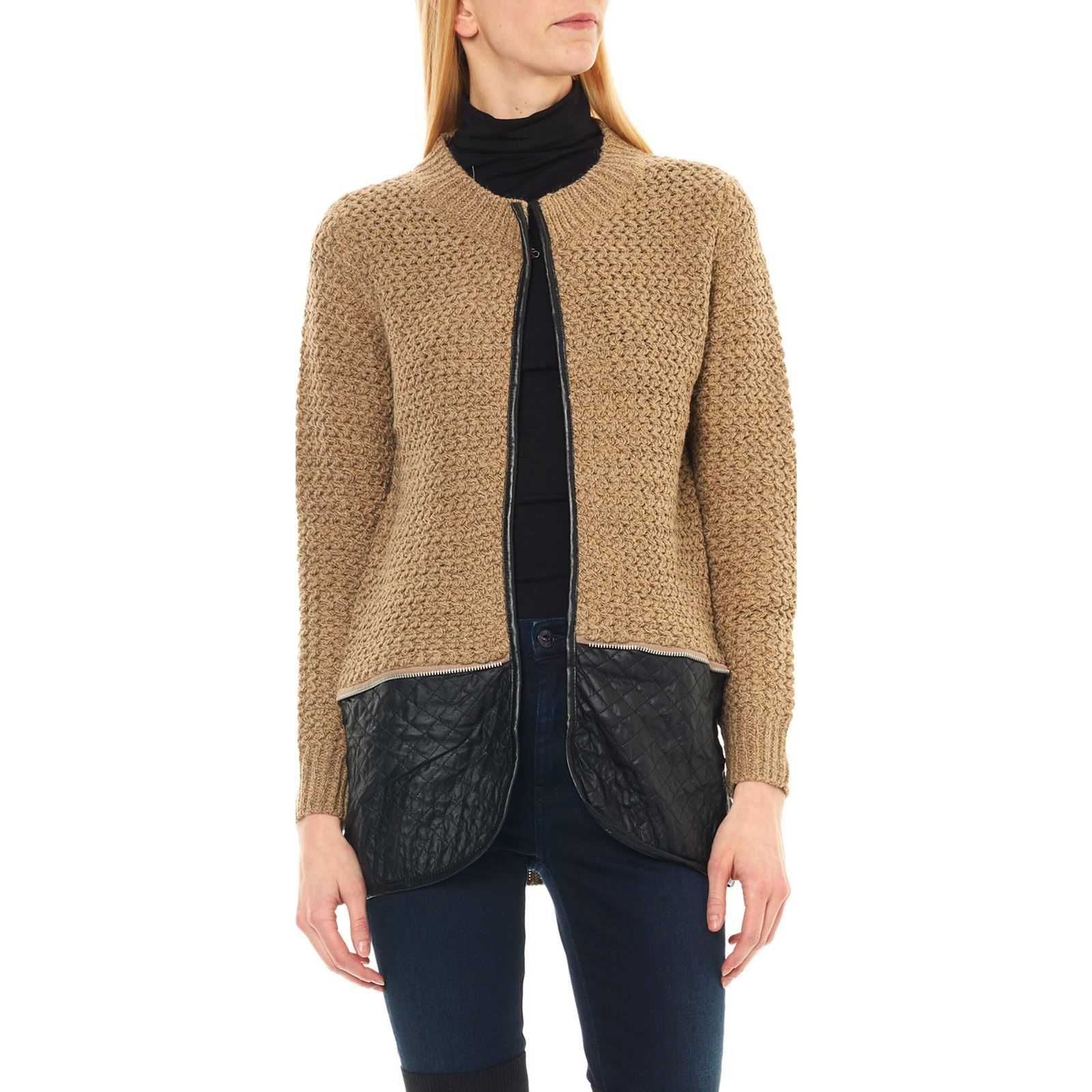 Brandalley Gilet Maille Et Cachemire Taupe IUwCI7pq