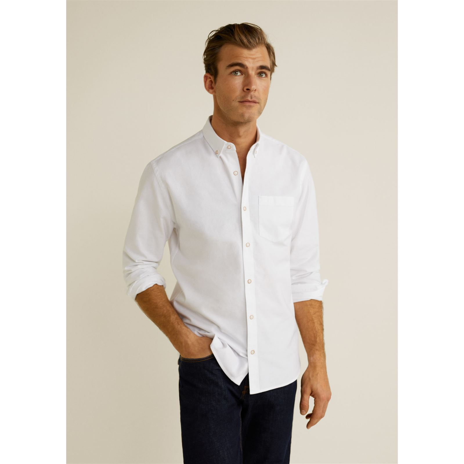 fit Chemise Man Regular Mango Blanc zCqPYxwnZ
