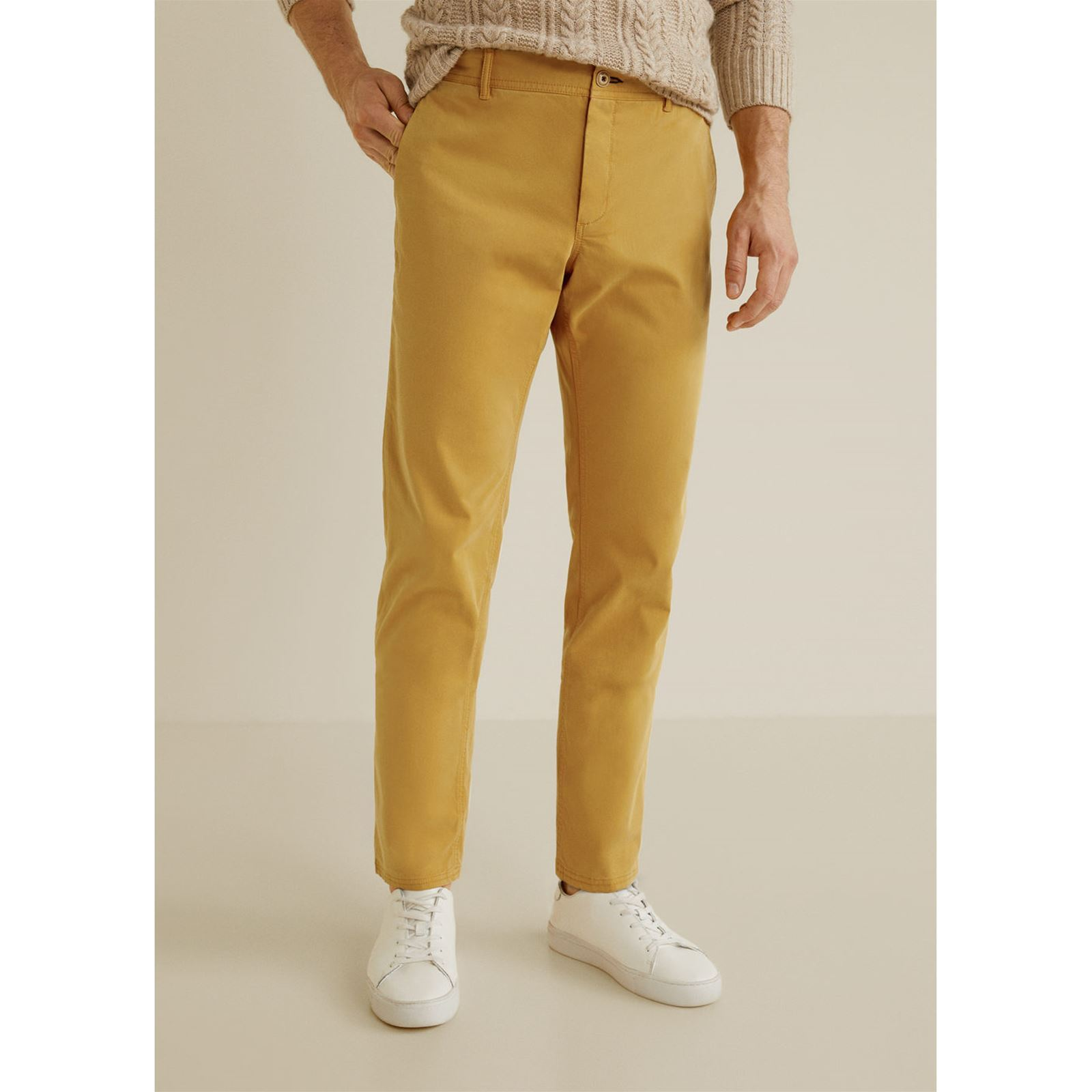 Slim Style fit Man Chino Pantalon Mango Moutarde qC0pwn