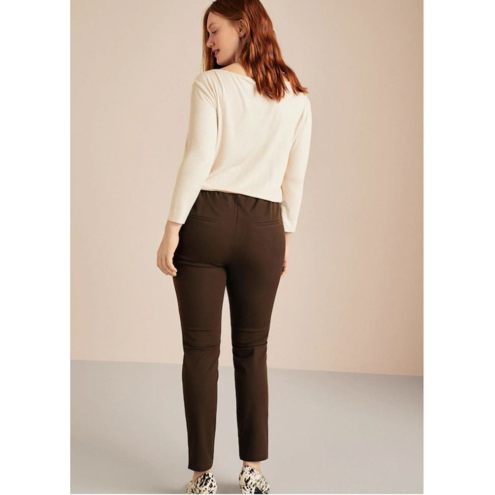 Élastique Mango By Cigarette Marron Pantalon Violeta CwpI5qA