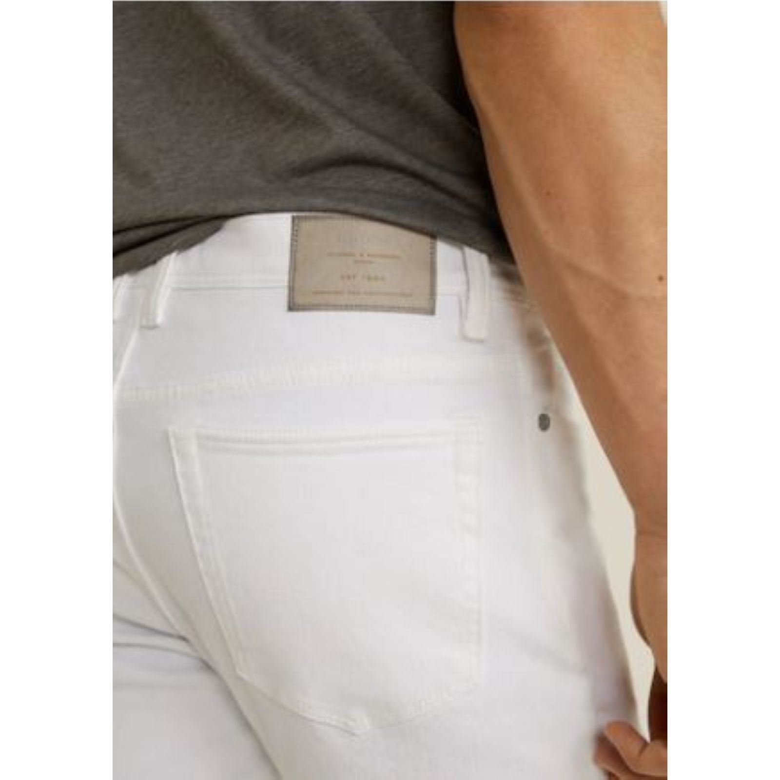 Slim fit Blanc Jan Jean Mango Man xHI0tt