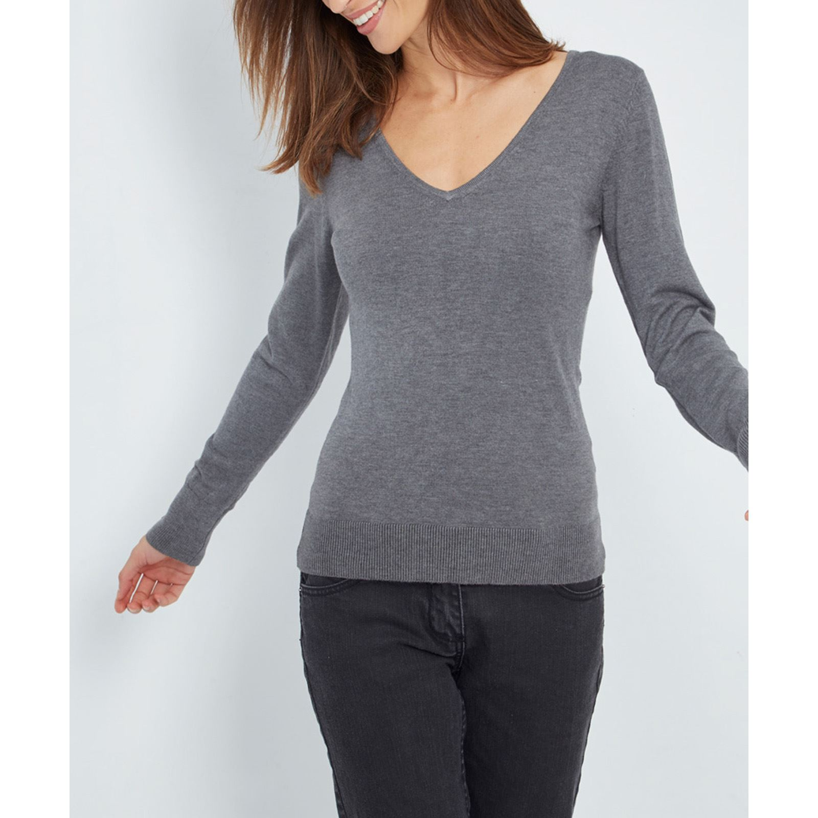Faye Foncé De Gris Pull Cachemire Brandalley 40 William zRqFw68
