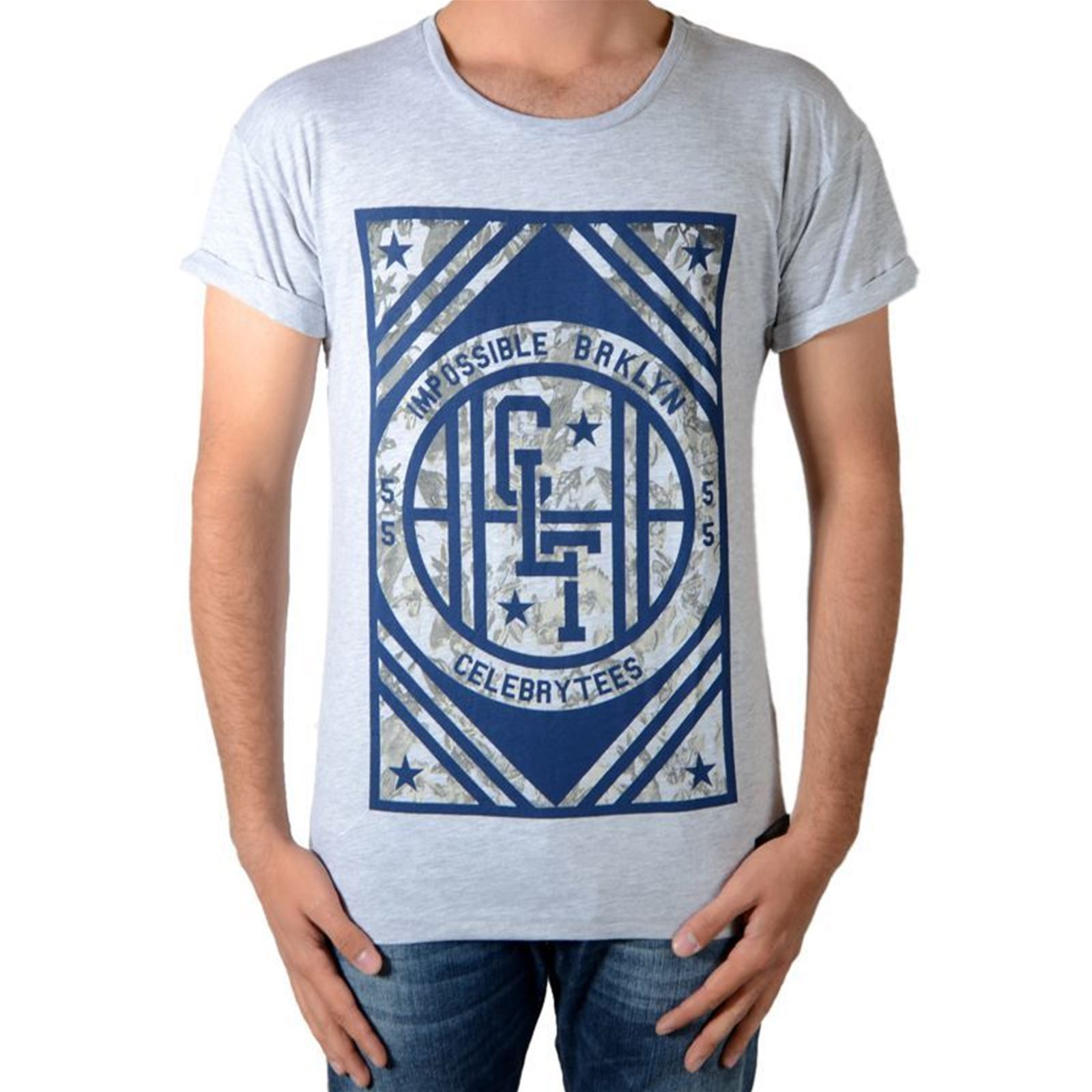 Manches Gris Celebry shirt Tees Courtes T qnHPnF