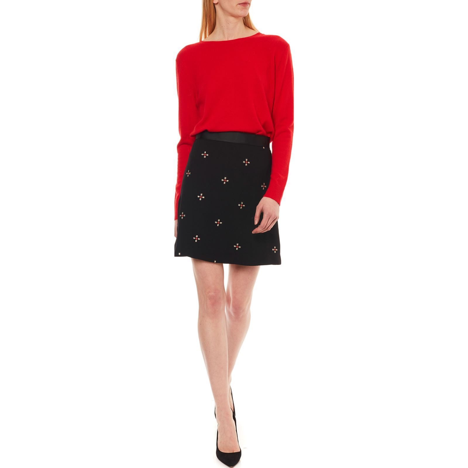 Caroll Erica - Pull 100% cachemire - rouge   BrandAlley 971697c7373